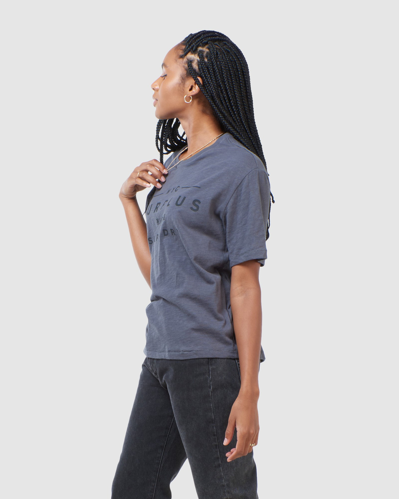 Superdry Womens SURPLUS GRAPHIC TEE Grey Printed T Shirts 3