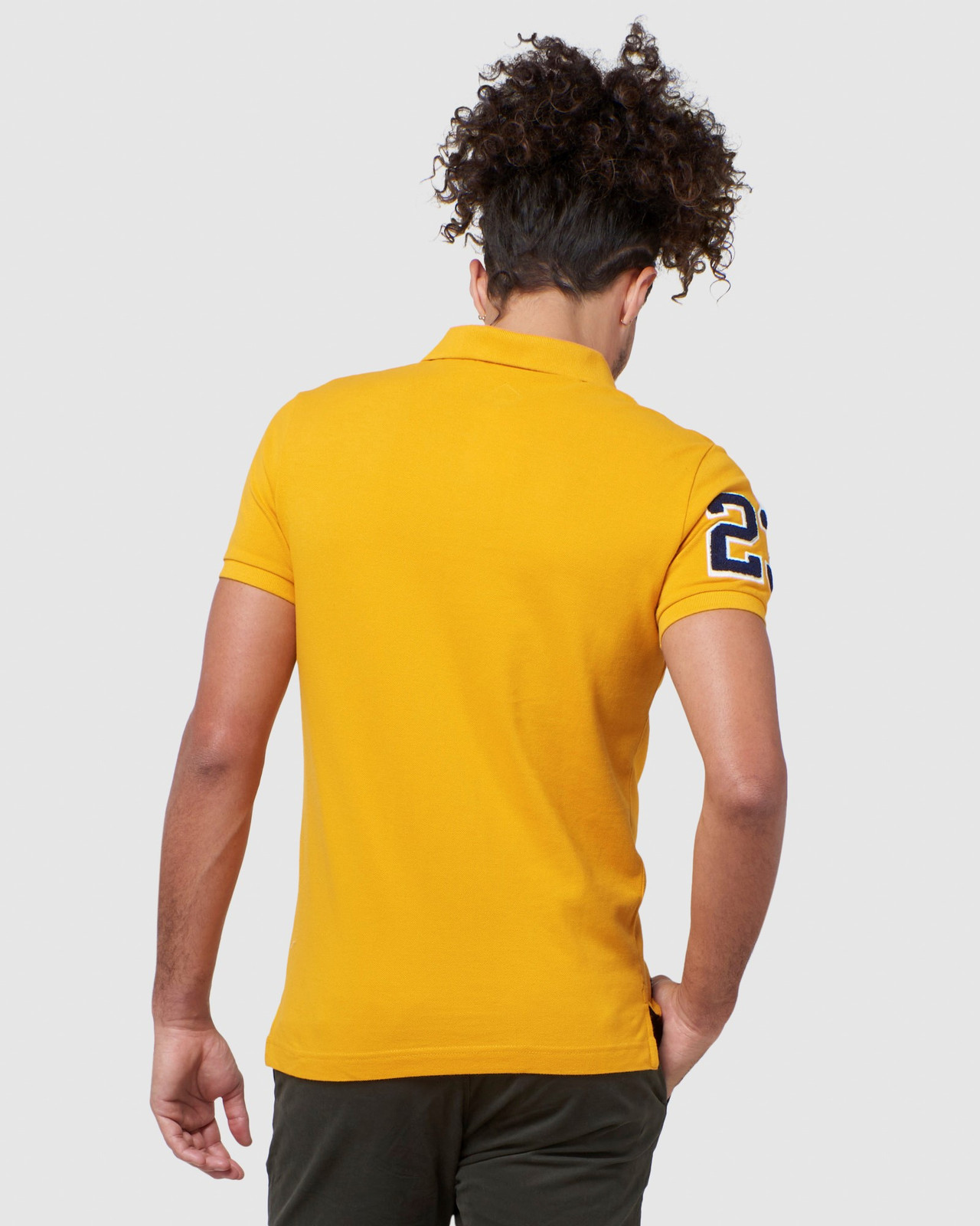 Superdry Mens BOSTON SUPERSTATE POLO Gold Printed Polos 3