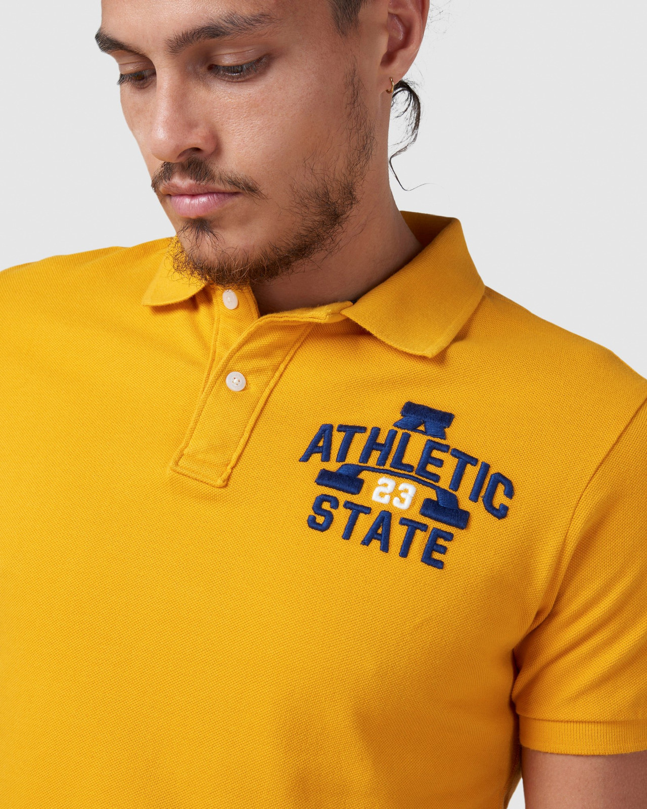 Superdry Mens BOSTON SUPERSTATE POLO Gold Printed Polos 4