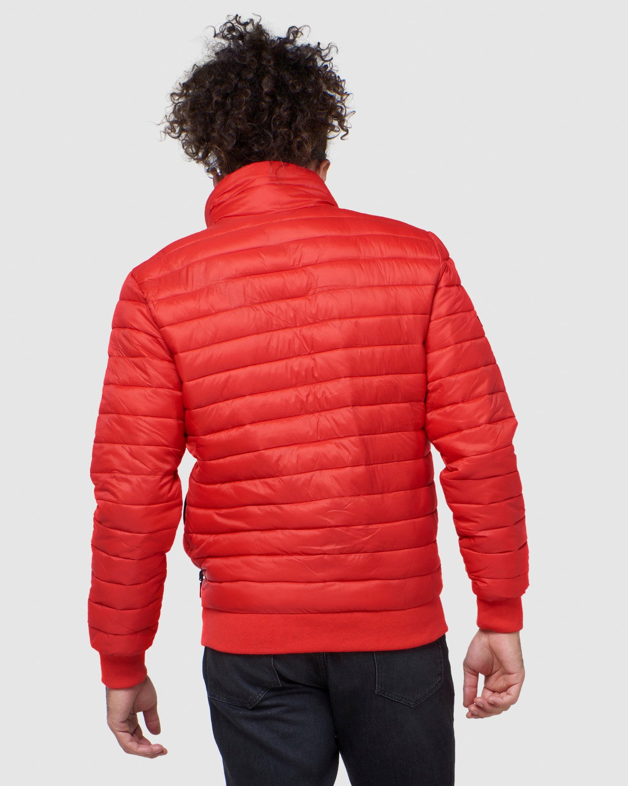 Superdry Mens FUJI BOMBER Red Puffer Jackets 7
