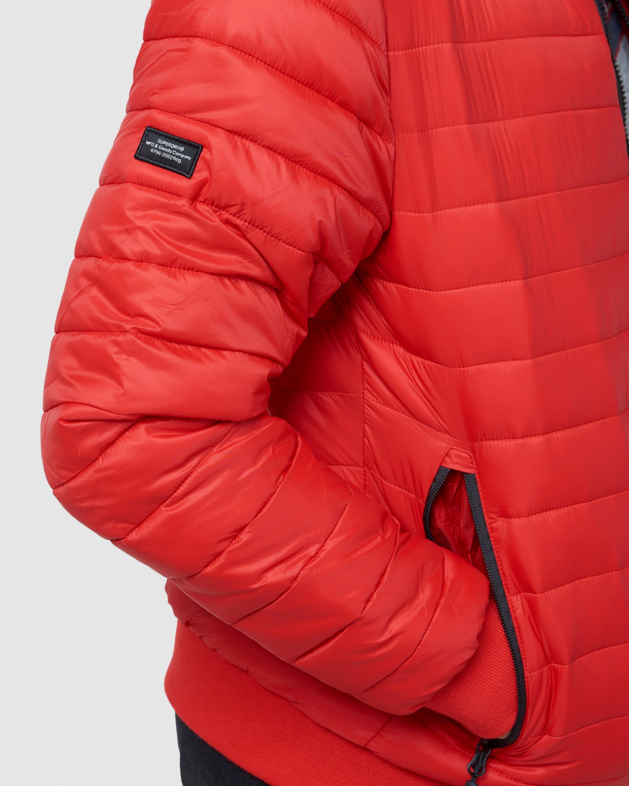 Superdry Mens FUJI BOMBER Red Puffer Jackets 13