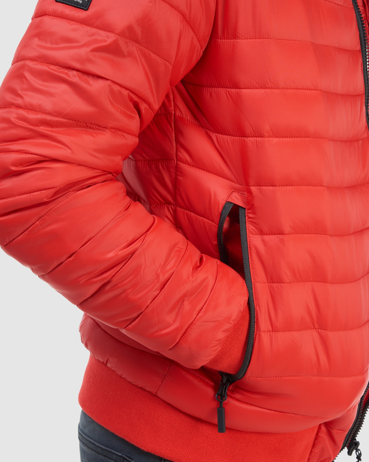 Superdry Mens FUJI BOMBER Red Puffer Jackets 15