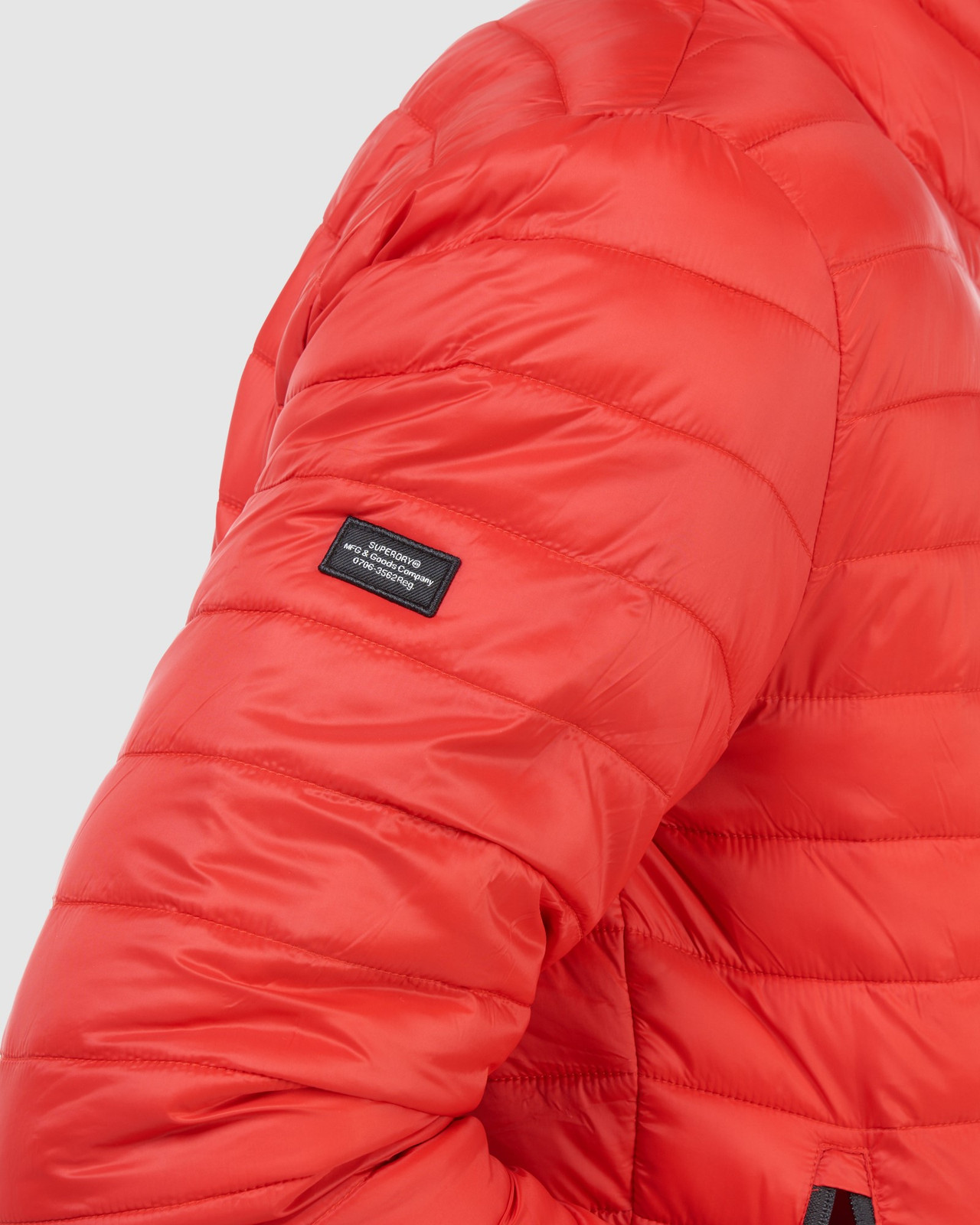 Superdry Mens FUJI BOMBER Red Puffer Jackets 17