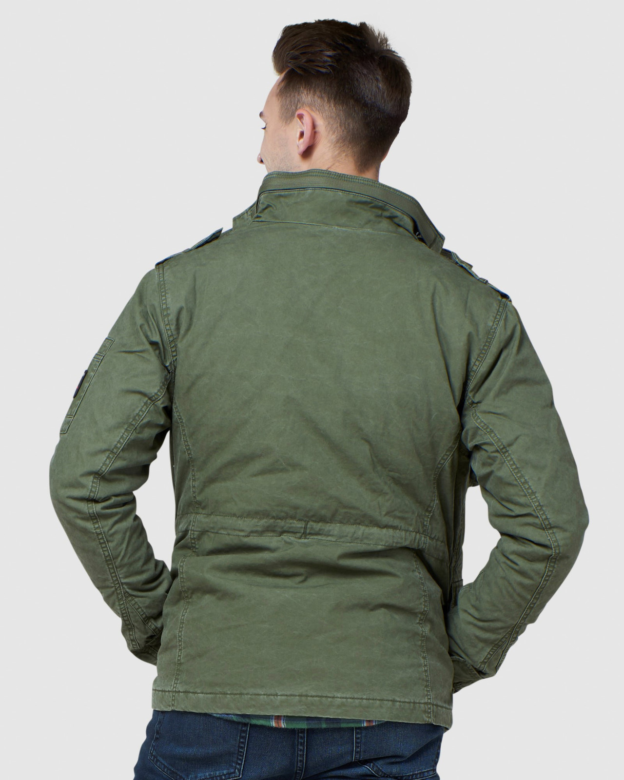 Superdry Mens CLASSIC ROOKIE JACKET Green Military Jackets 3