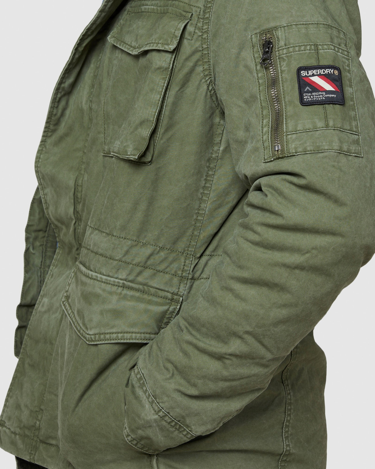 Superdry Mens CLASSIC ROOKIE JACKET Green Military Jackets 6