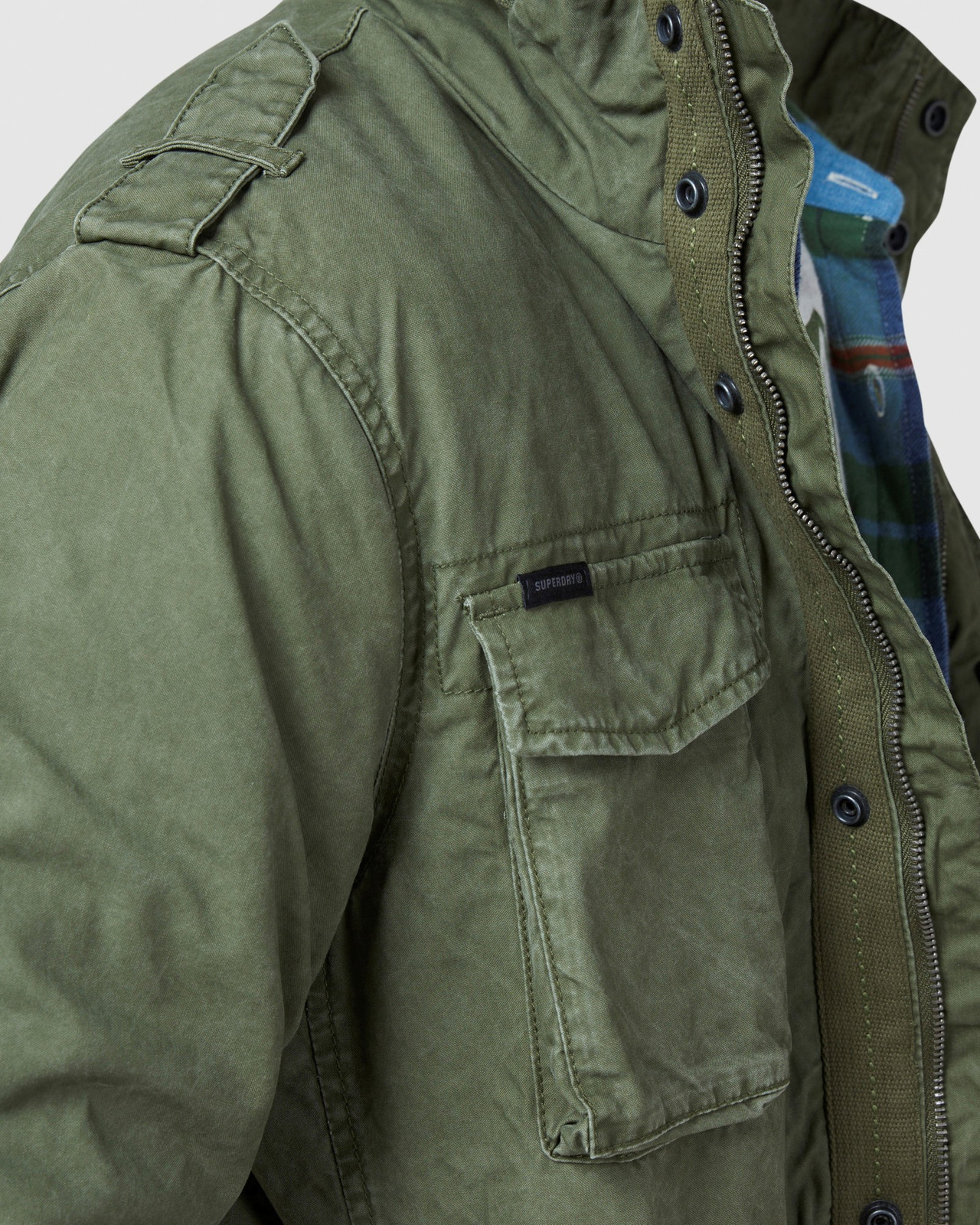Superdry Mens CLASSIC ROOKIE JACKET Green Military Jackets 7