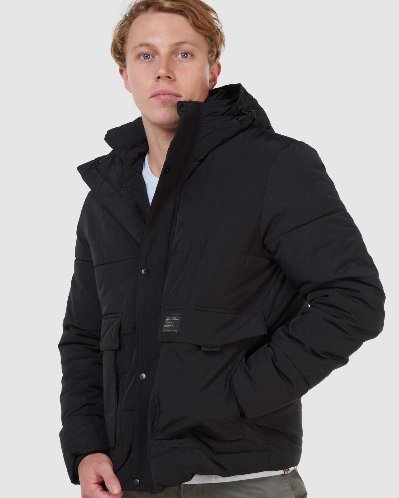 Superdry Mens PIVOT JACKET Black Puffer Jackets 8