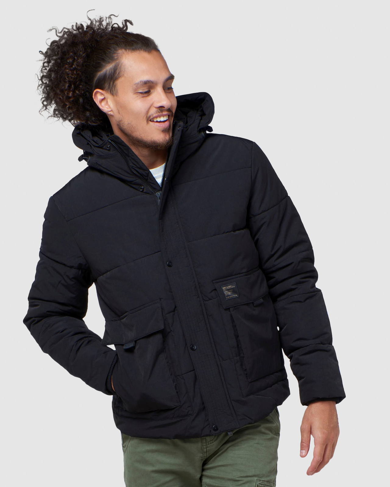 Superdry Mens PIVOT JACKET Black Puffer Jackets 0
