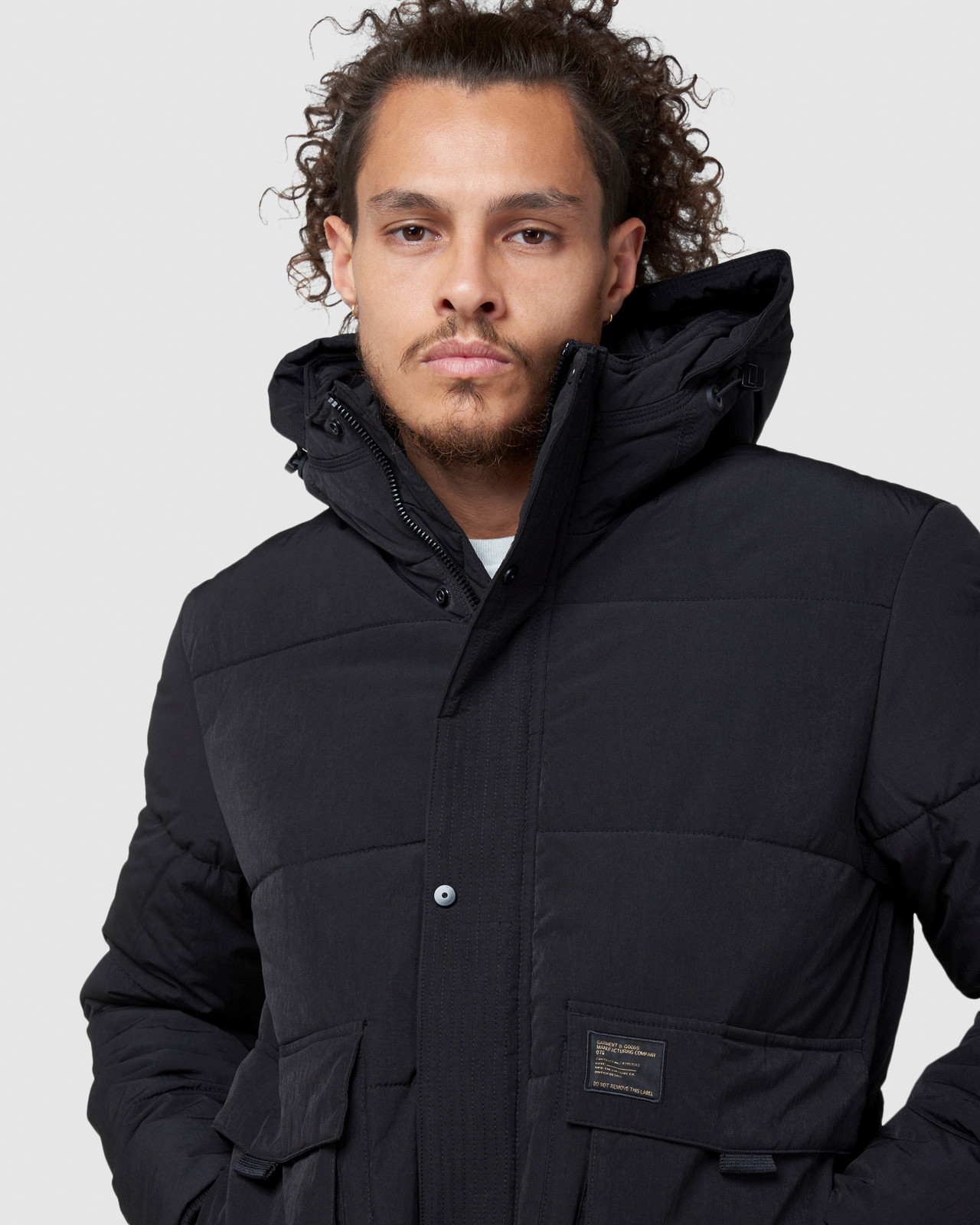 Superdry Mens PIVOT JACKET Black Puffer Jackets 4