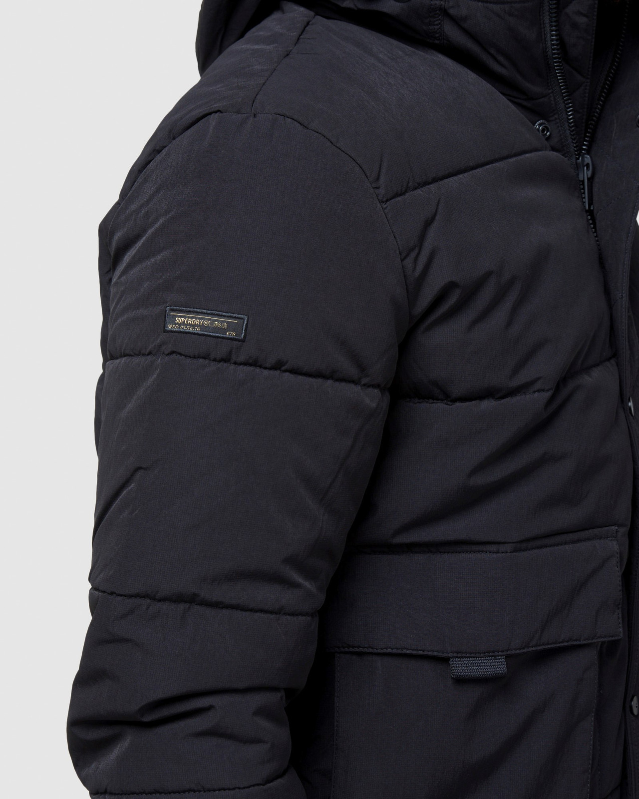 Superdry Mens PIVOT JACKET Black Puffer Jackets 5