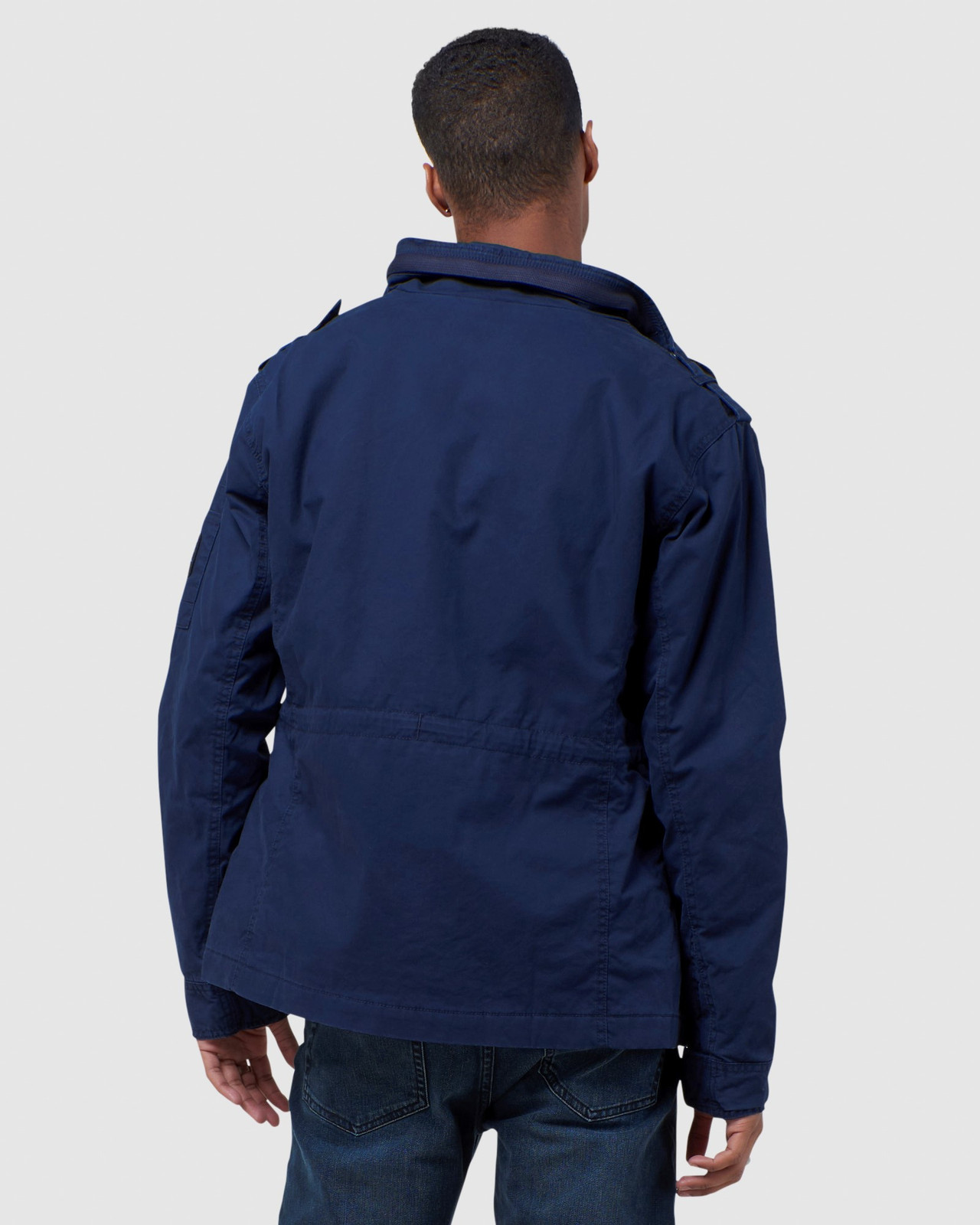 Superdry Mens CLASSIC RECRUIT JACKET Navy Military Jackets 3