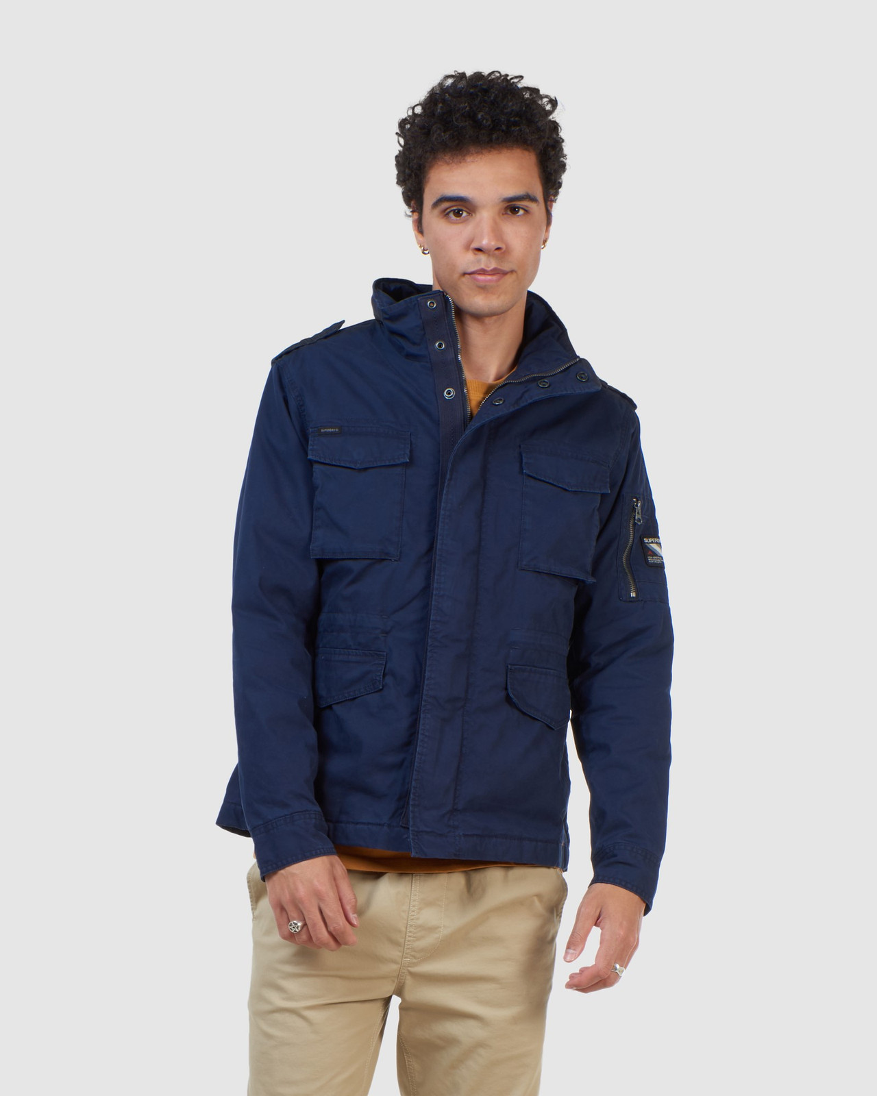 Superdry Mens CLASSIC RECRUIT JACKET Navy Military Jackets 10