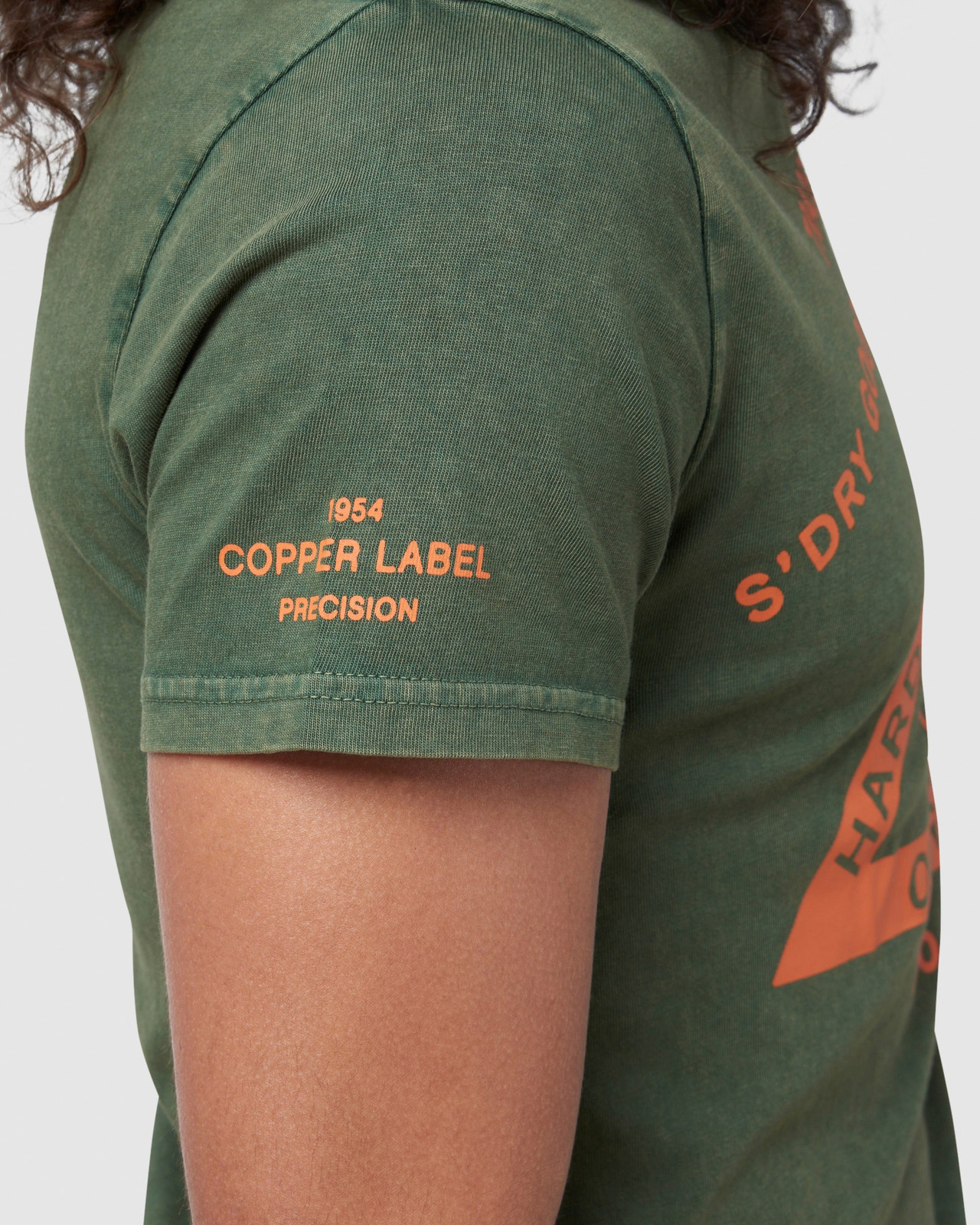 Superdry Mens COPPER LABEL TEE Green Printed T Shirts 6