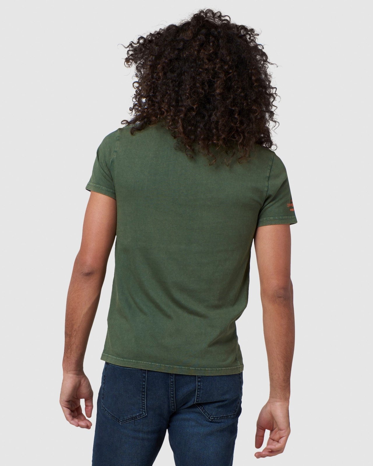Superdry Mens COPPER LABEL TEE Green Printed T Shirts 3