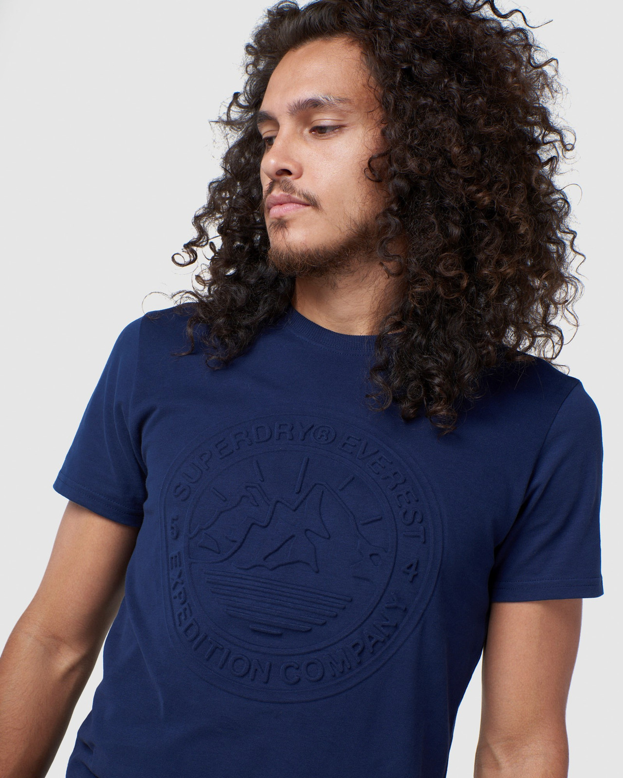 Superdry Mens EVEREST TEE Navy Printed T Shirts 4