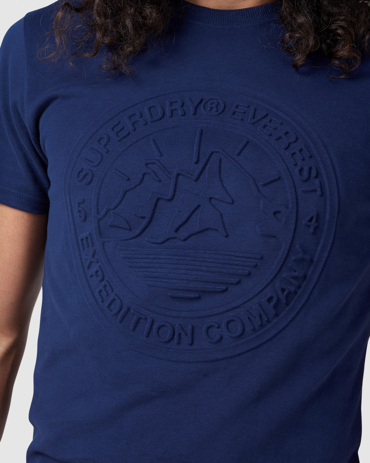 Superdry Mens EVEREST TEE Navy Printed T Shirts 5