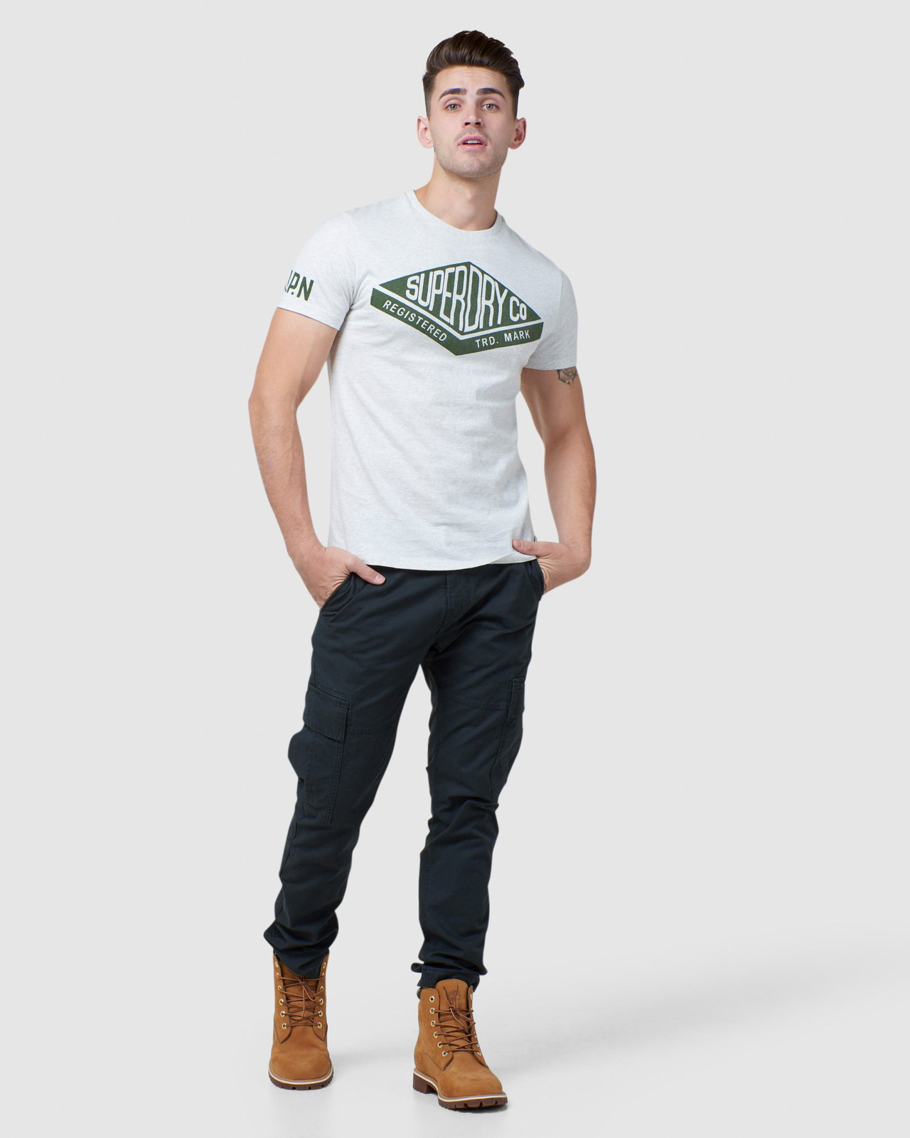 Superdry Mens COPPER LABEL TEE Printed T Shirts 1