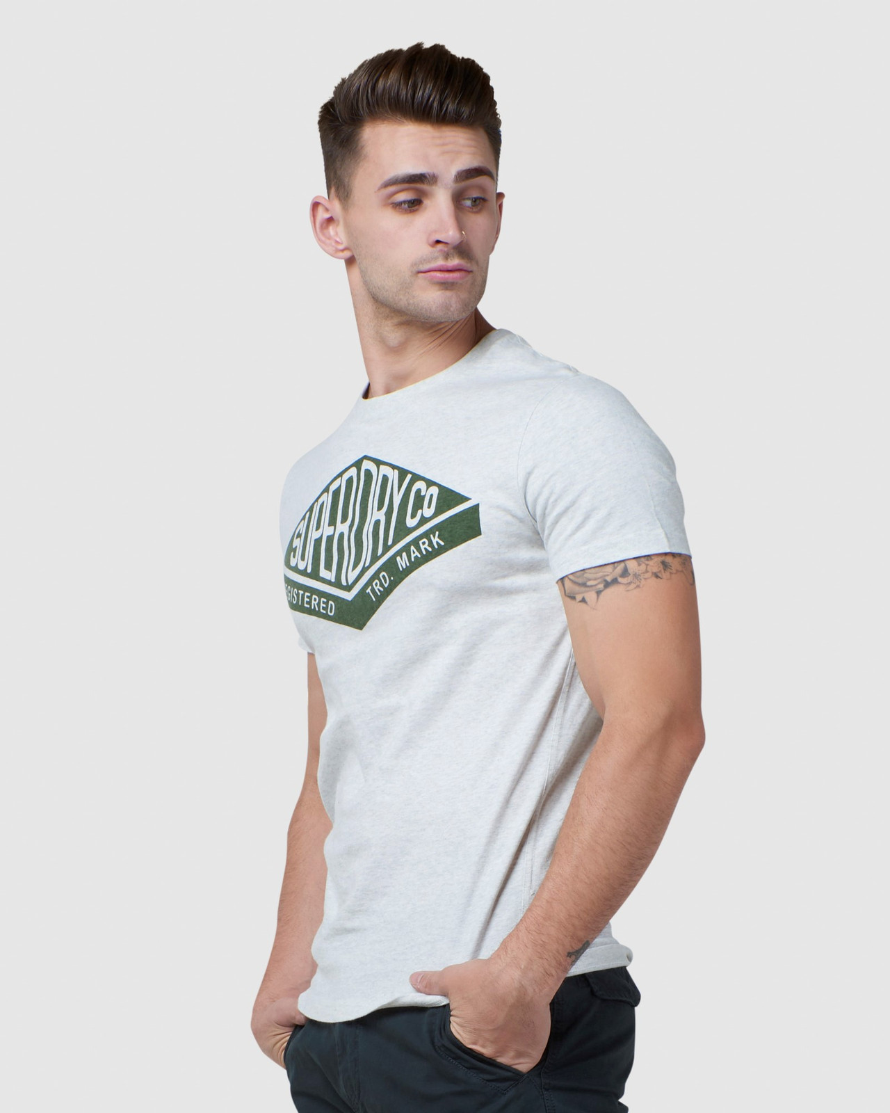 Superdry Mens COPPER LABEL TEE Printed T Shirts 2
