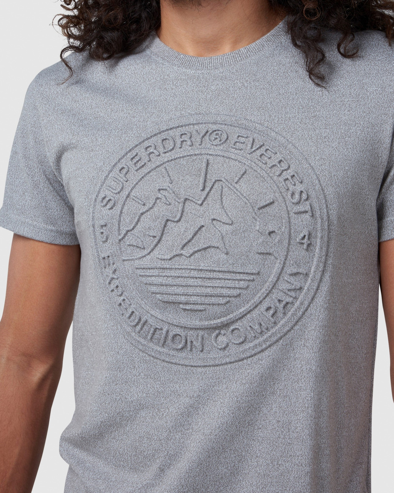 Superdry Mens EVEREST TEE Grey Printed T Shirts 4
