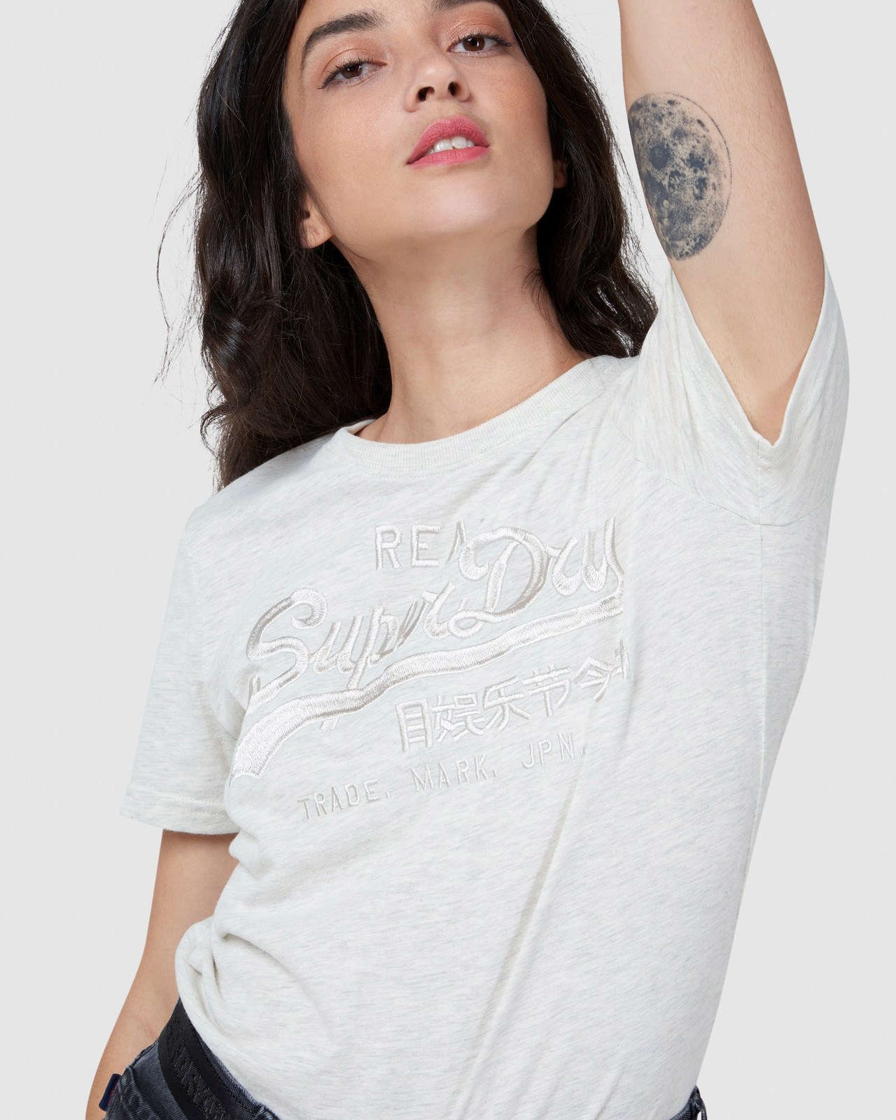 Superdry Womens Vintage Logo Tonal Embroidered Tee Printed T Shirts 4