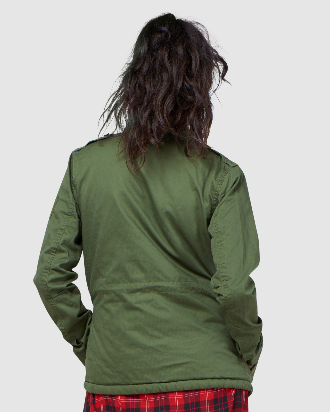 Superdry Womens CLASSIC RECRUIT BORG JACKET Green Military Jackets 3