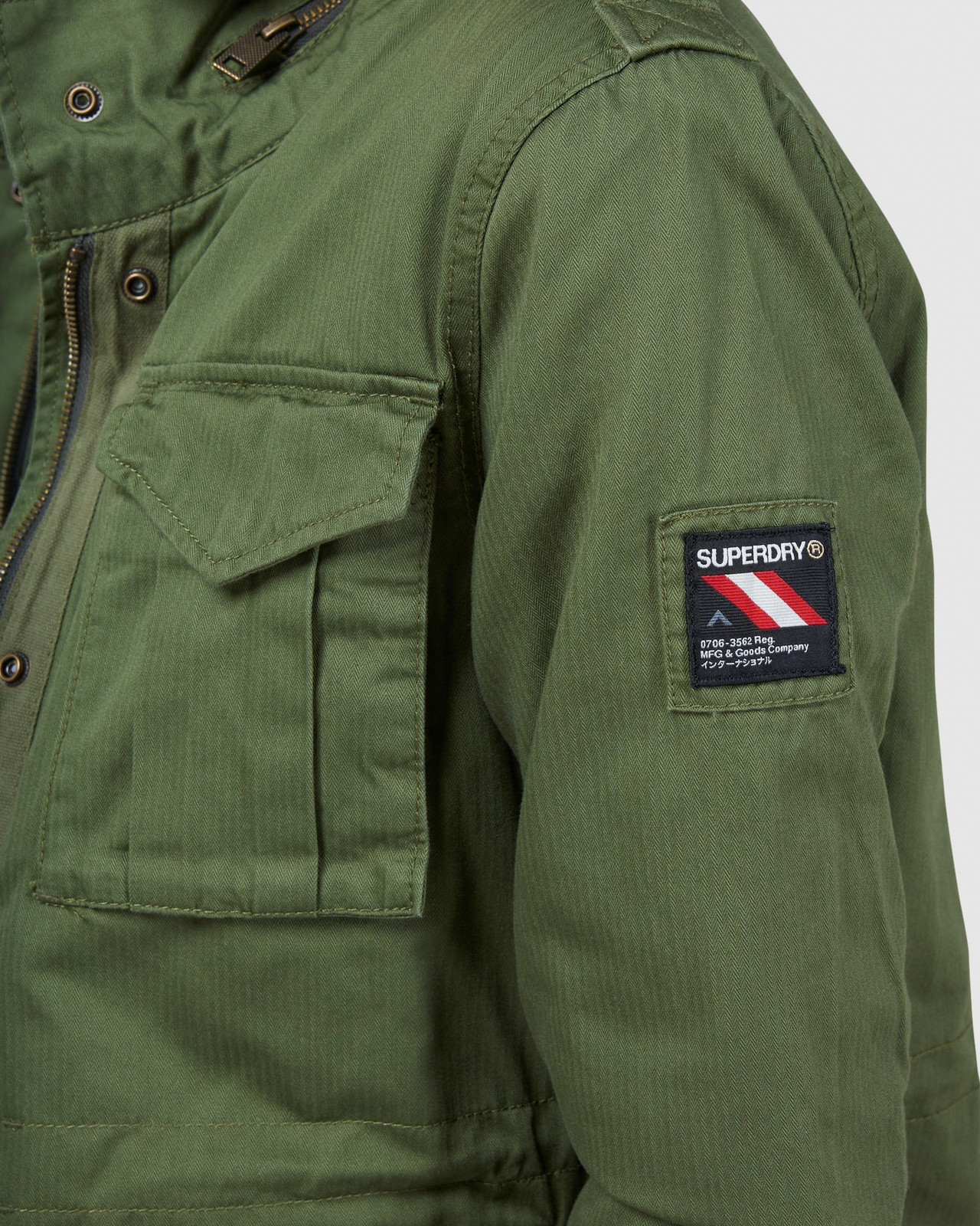 Superdry Womens CLASSIC RECRUIT BORG JACKET Green Military Jackets 6