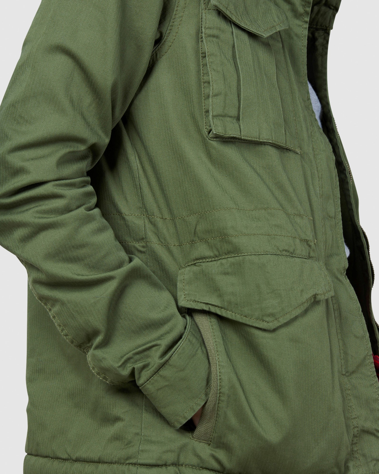 Superdry Womens CLASSIC RECRUIT BORG JACKET Green Military Jackets 7