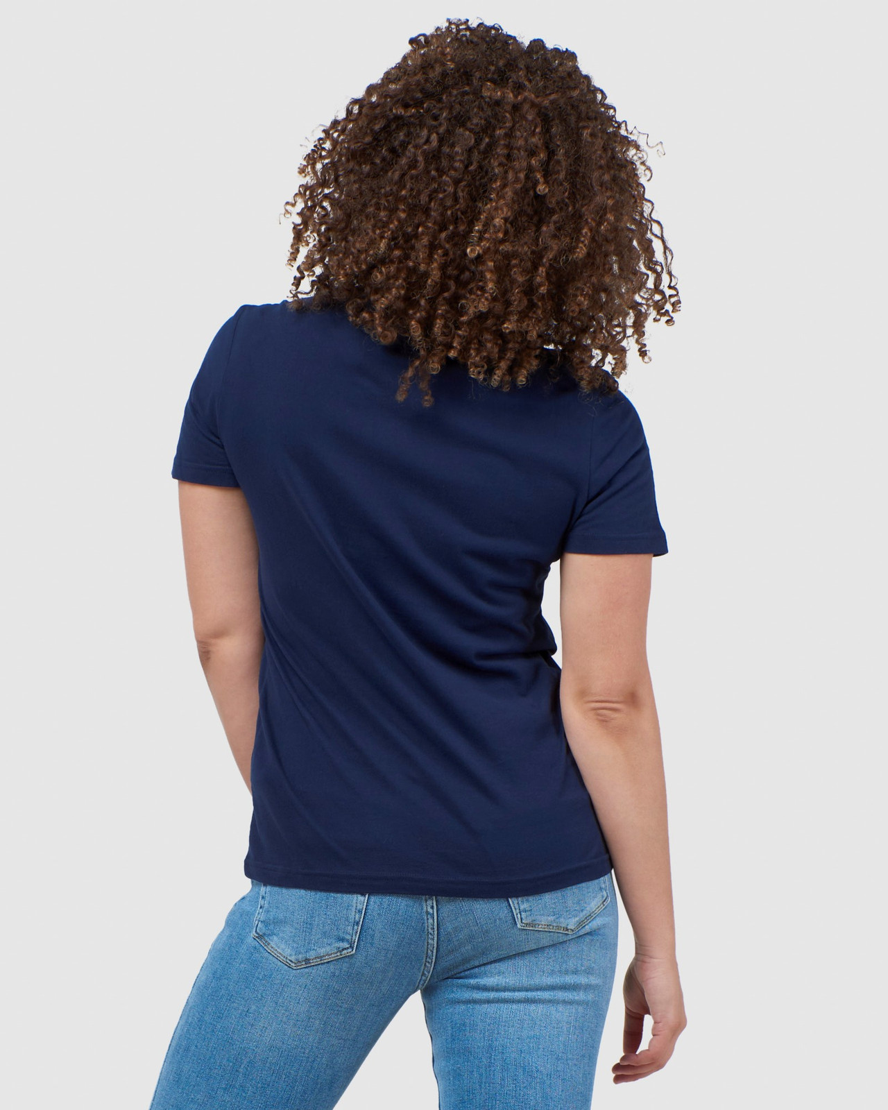 Superdry Womens Vintage Logo Tonal Embroidered Tee Navy Printed T Shirts 3