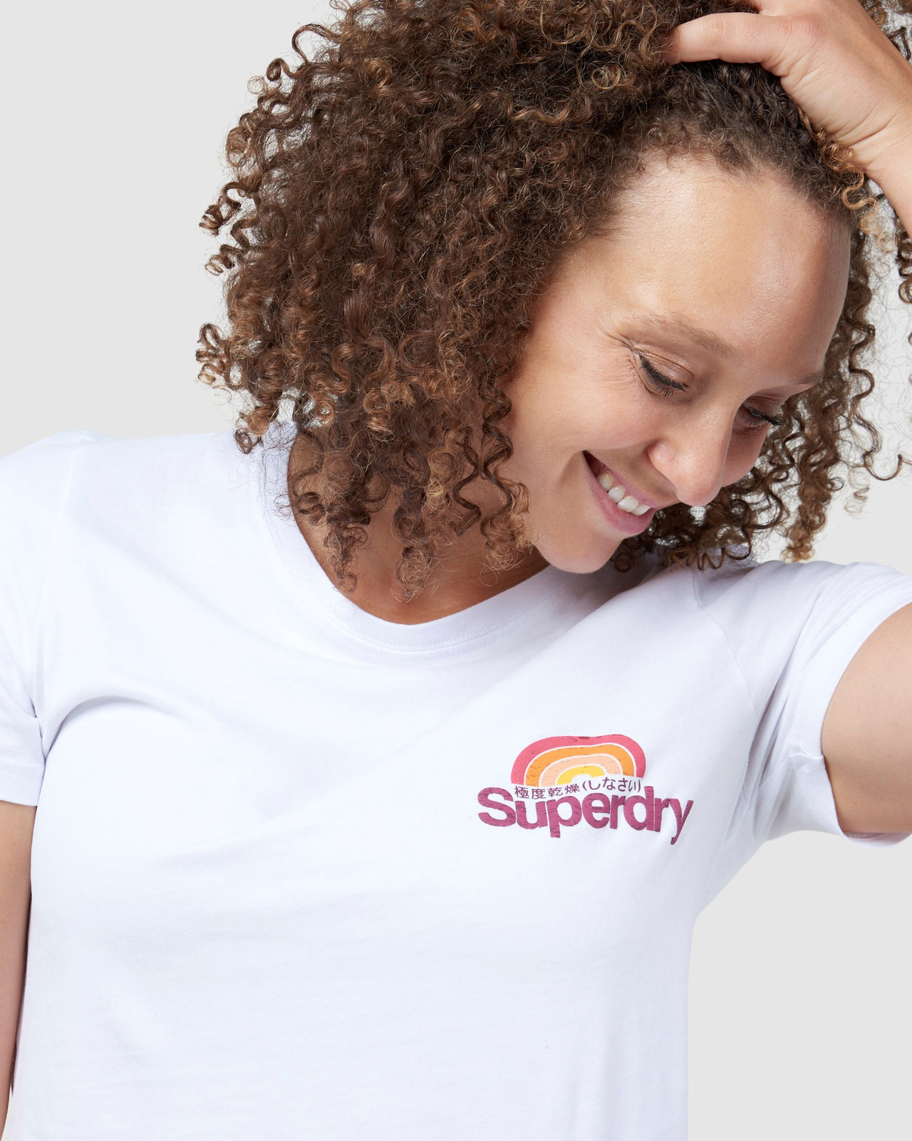 Superdry Womens CL WILDERNESS TEE White Printed T Shirts 5