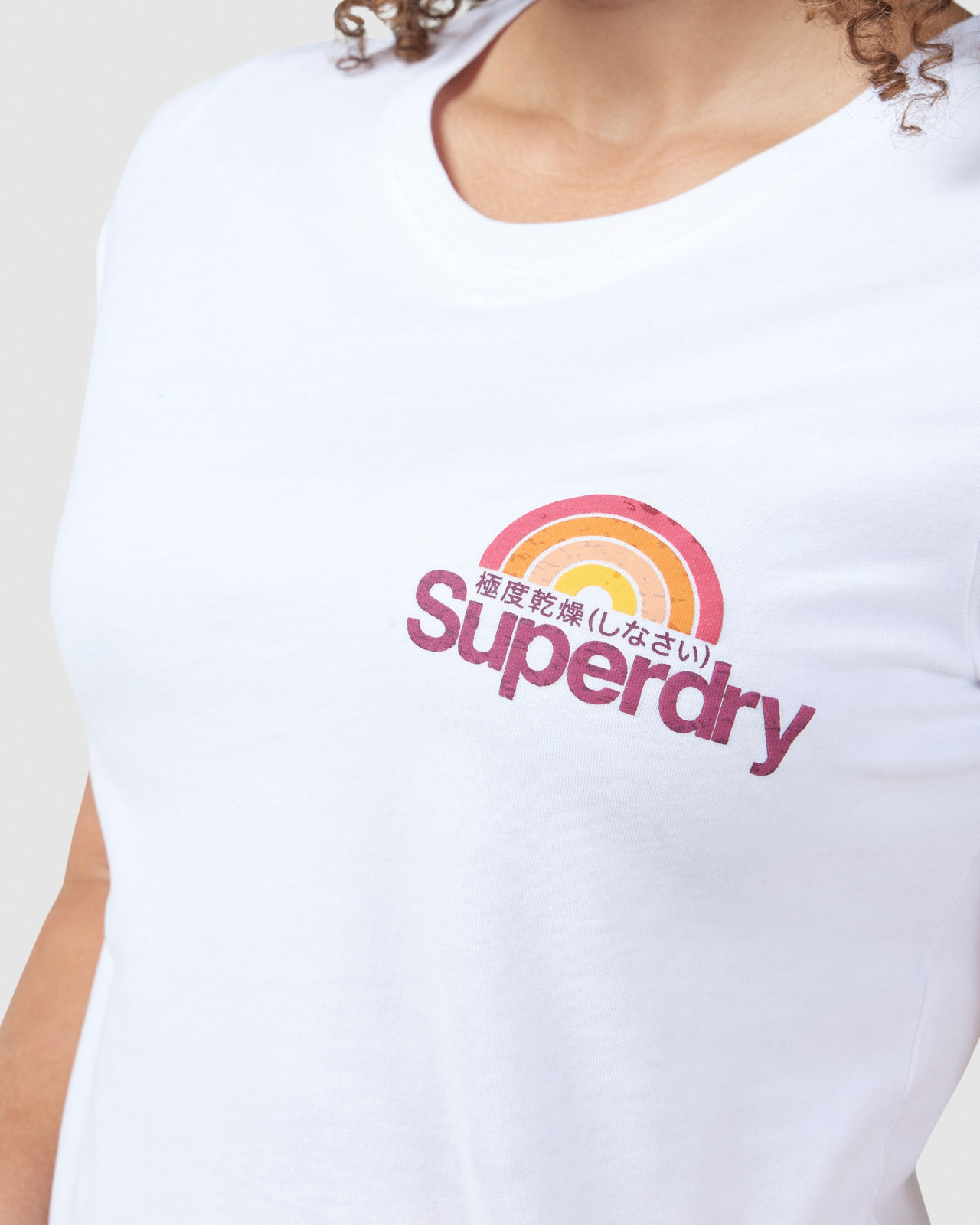Superdry Womens CL WILDERNESS TEE White Printed T Shirts 6