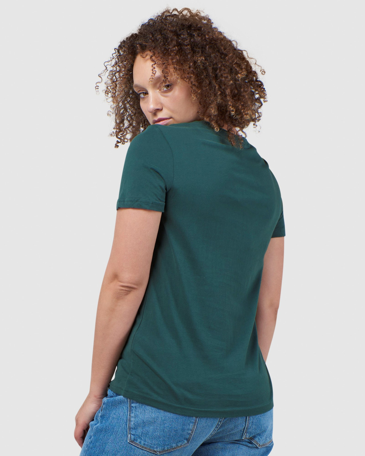 Superdry Womens Vintage Logo Tonal Embroidered Tee Green Printed T Shirts 3