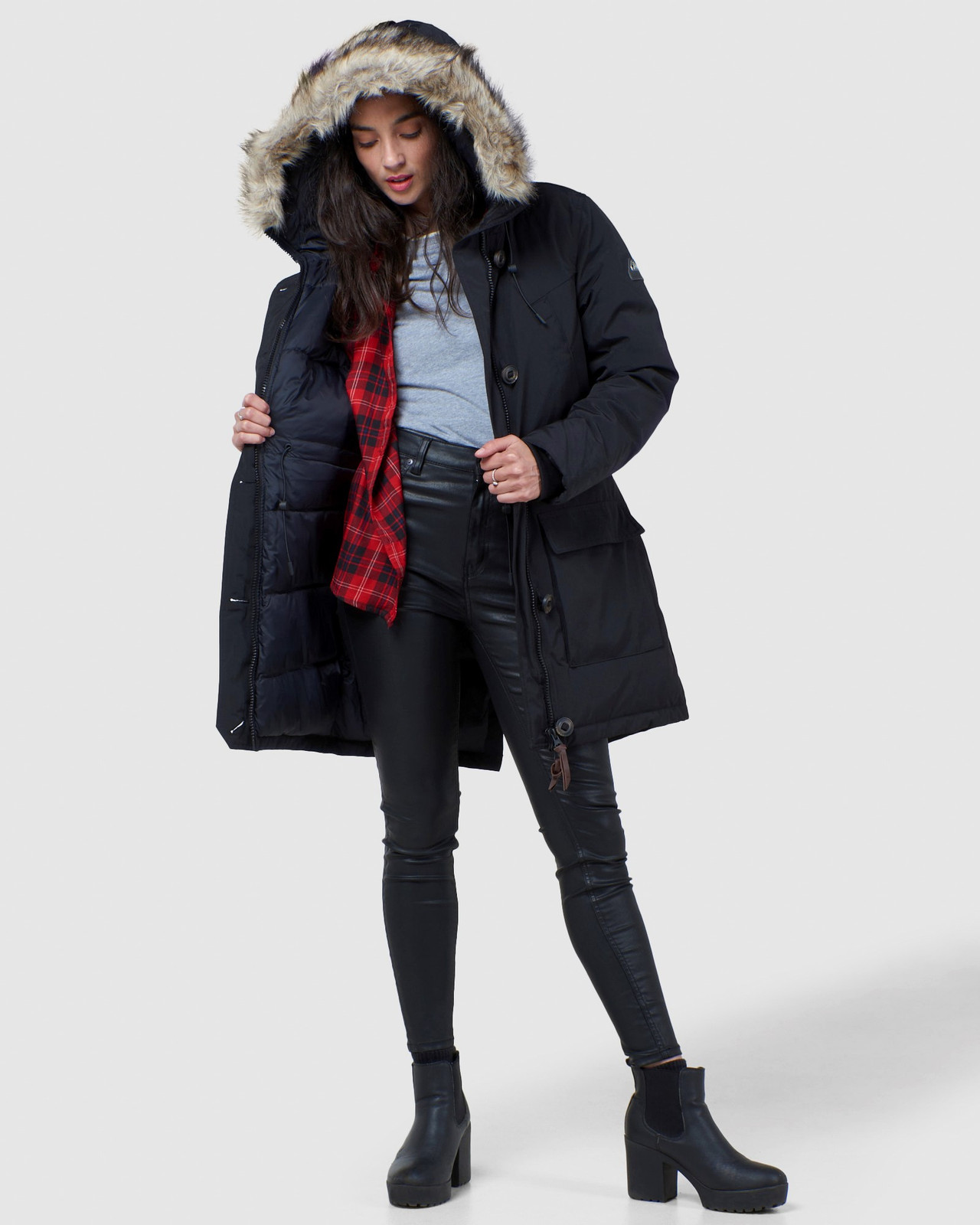 Superdry Womens ROOKIE DOWN PARKA Black Down Jackets 1