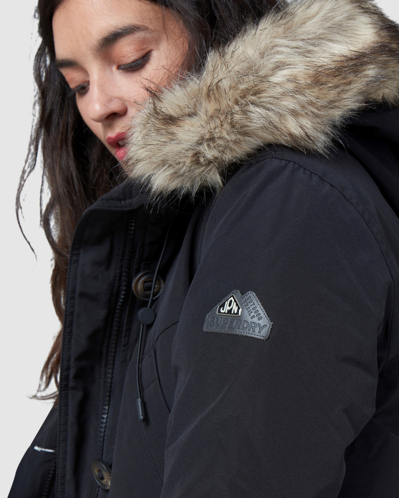 Superdry Womens ROOKIE DOWN PARKA Black Down Jackets 6