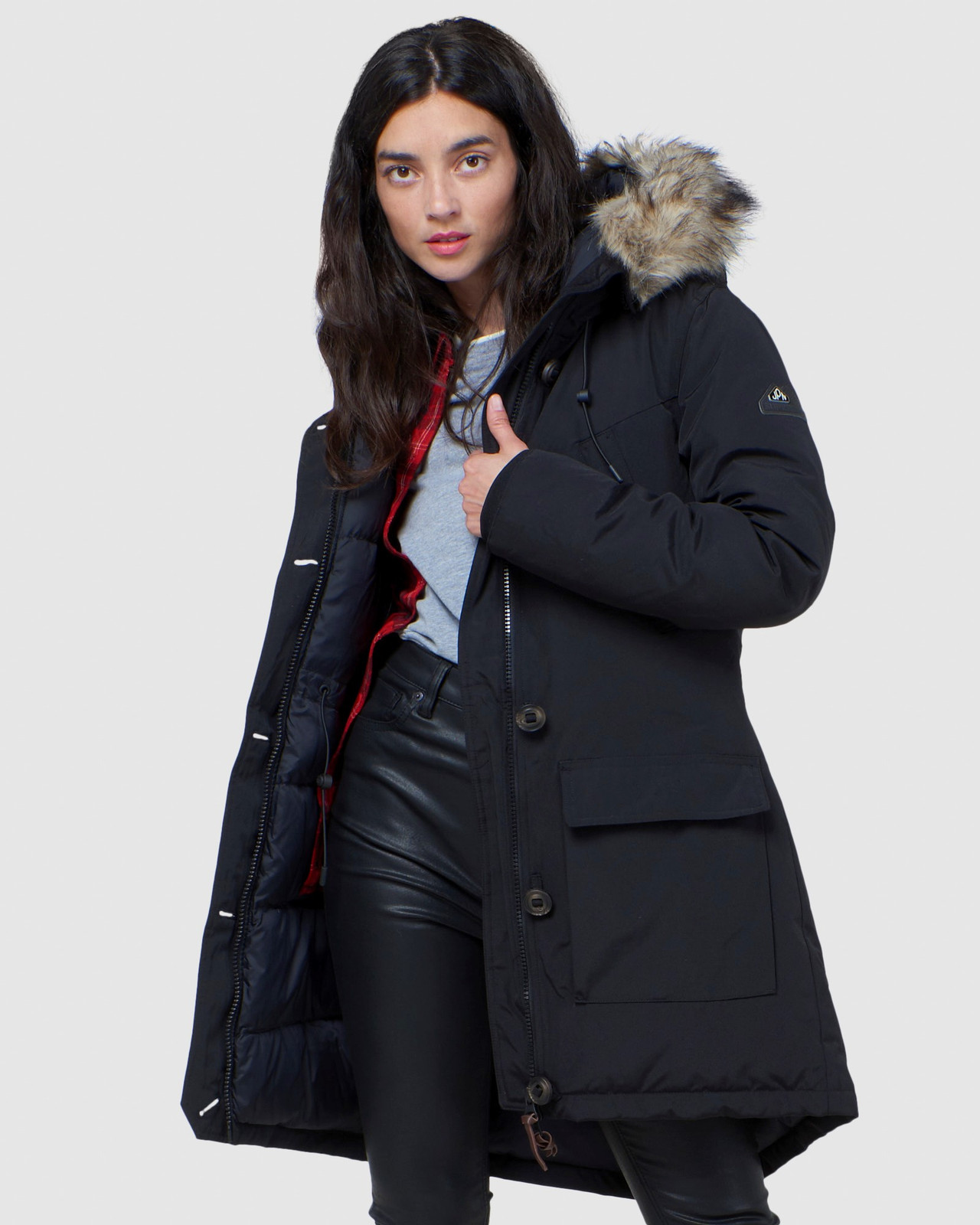 Superdry Womens ROOKIE DOWN PARKA Black Down Jackets 0