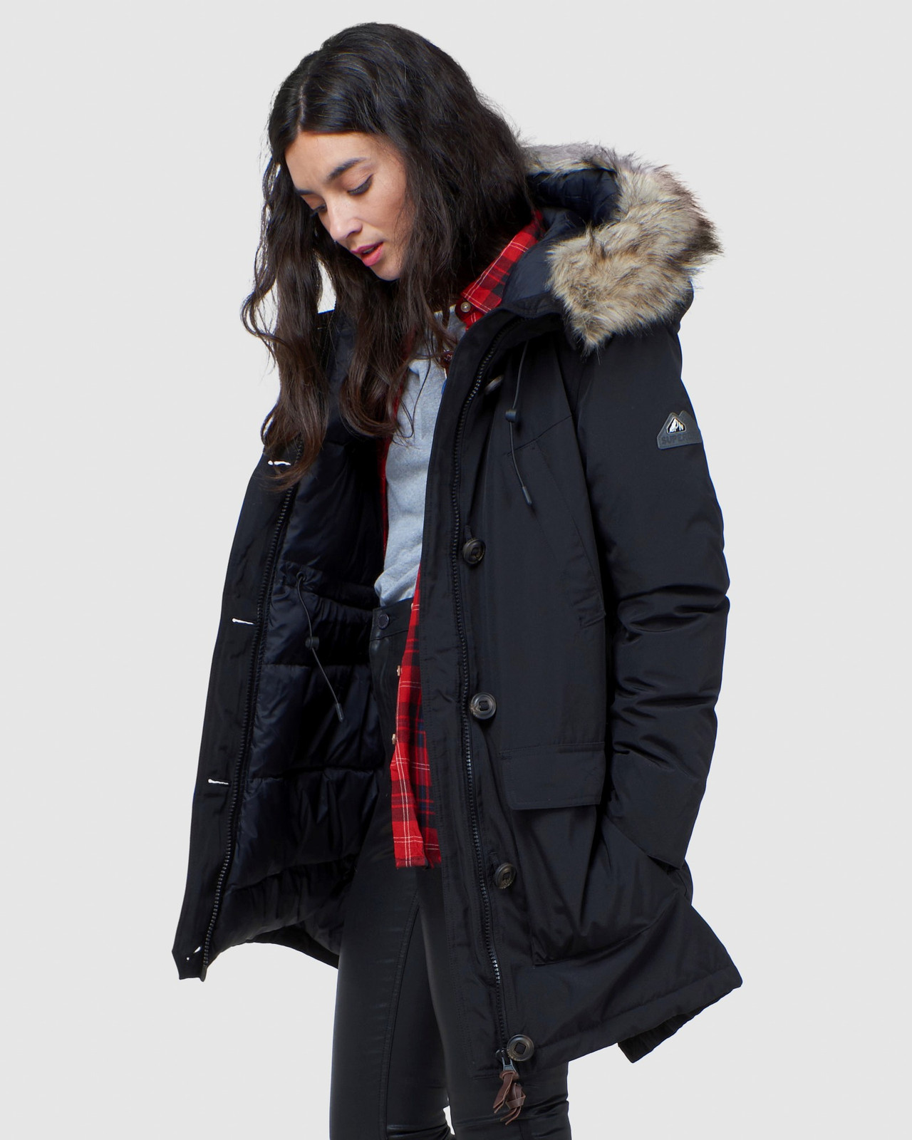 Superdry Womens ROOKIE DOWN PARKA Black Down Jackets 2