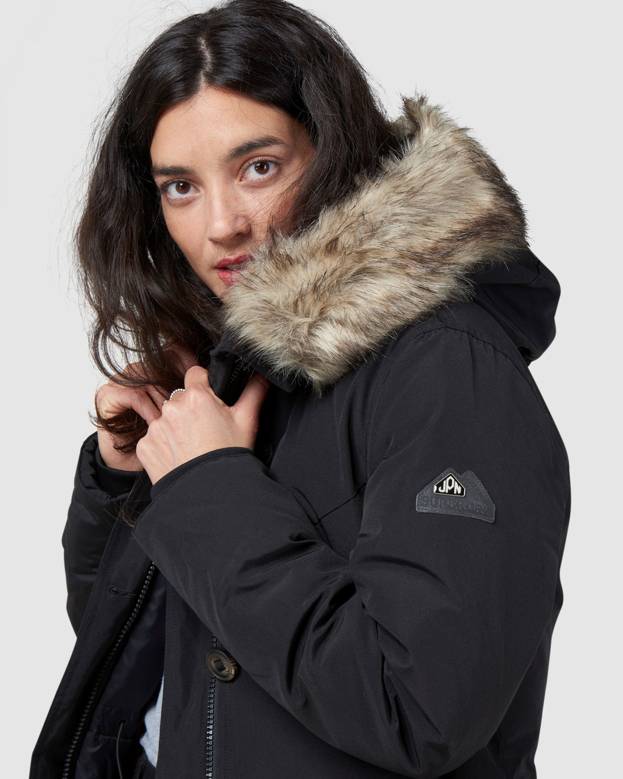 Superdry Womens ROOKIE DOWN PARKA Black Down Jackets 4