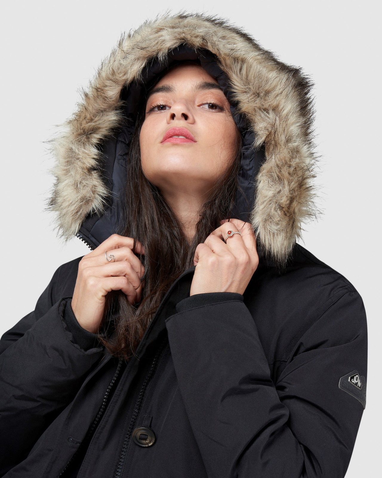 Superdry Womens ROOKIE DOWN PARKA Black Down Jackets 5
