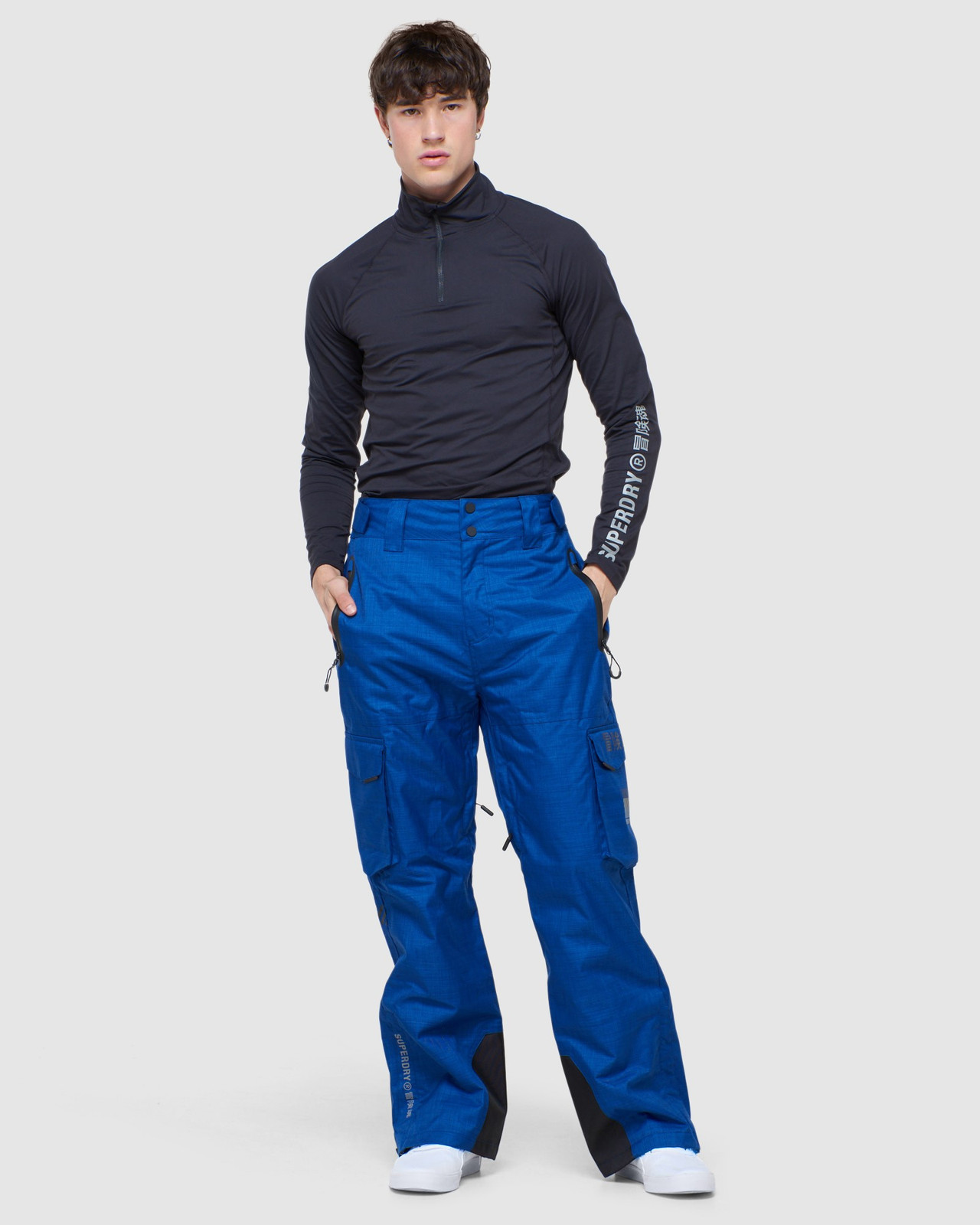 Superdry Mens ULTIMATE SNOW RESCUE PANT Blue Green Snow Pants 1