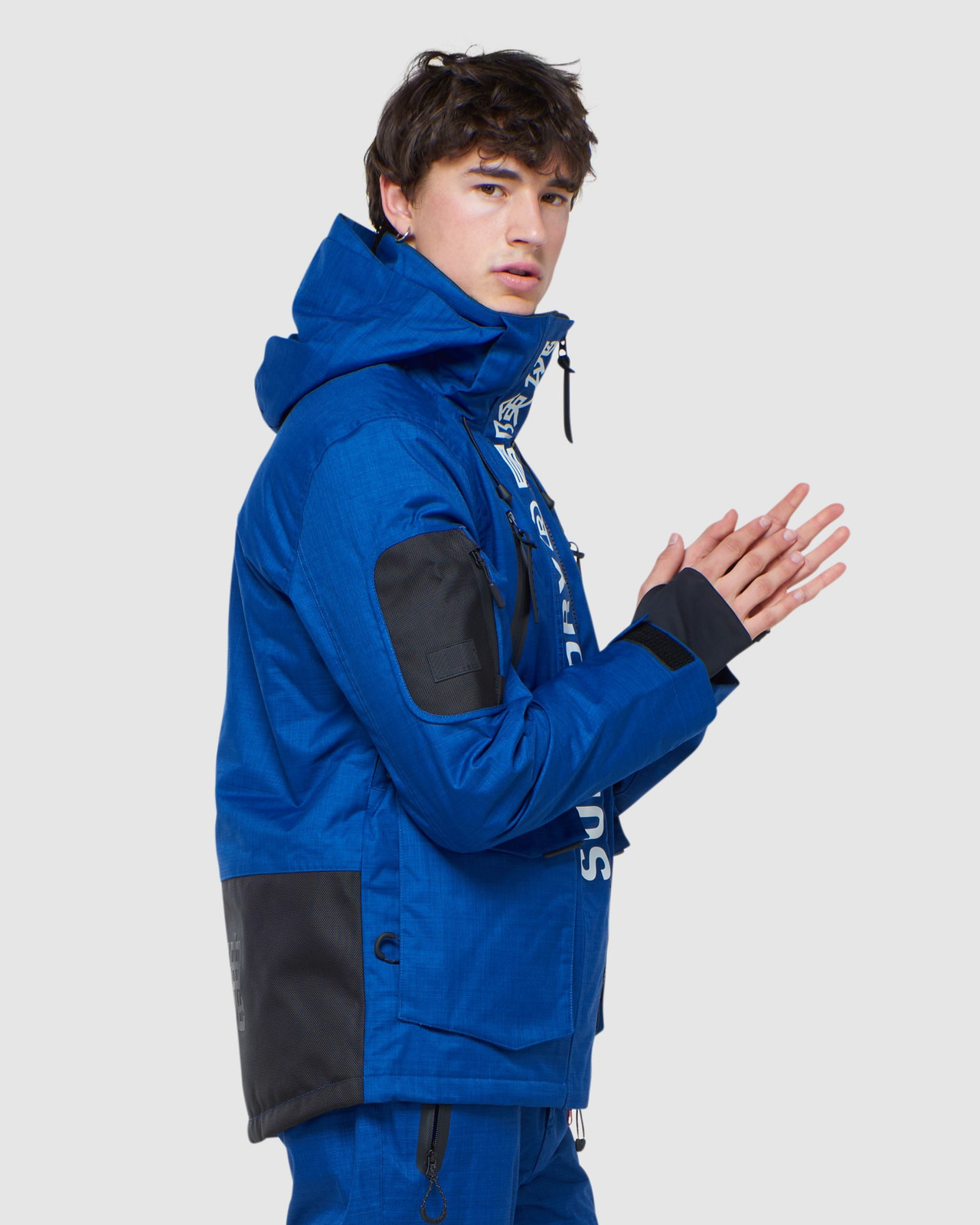 Superdry Mens ULTIMATE MOUNTAIN RESCUE JKT Blue Green Snow Jackets 2