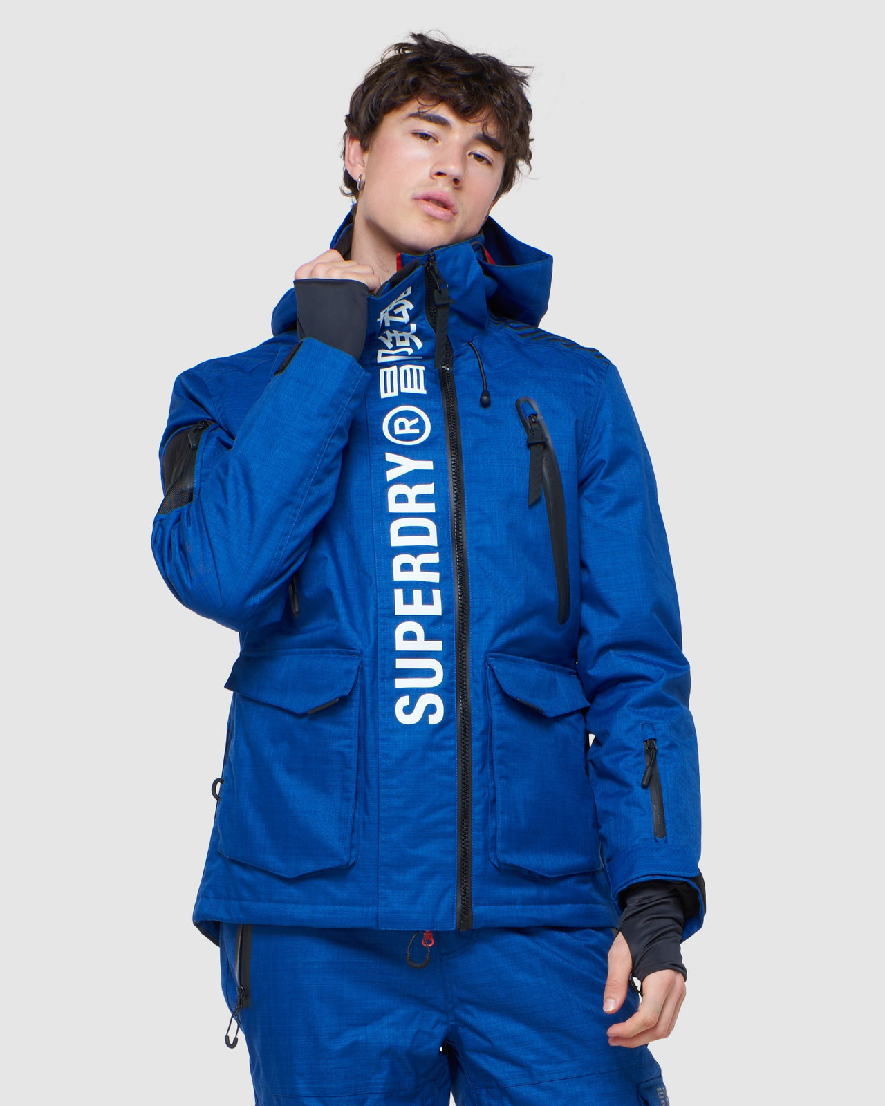Superdry Mens ULTIMATE MOUNTAIN RESCUE JKT Blue Green Snow Jackets 0