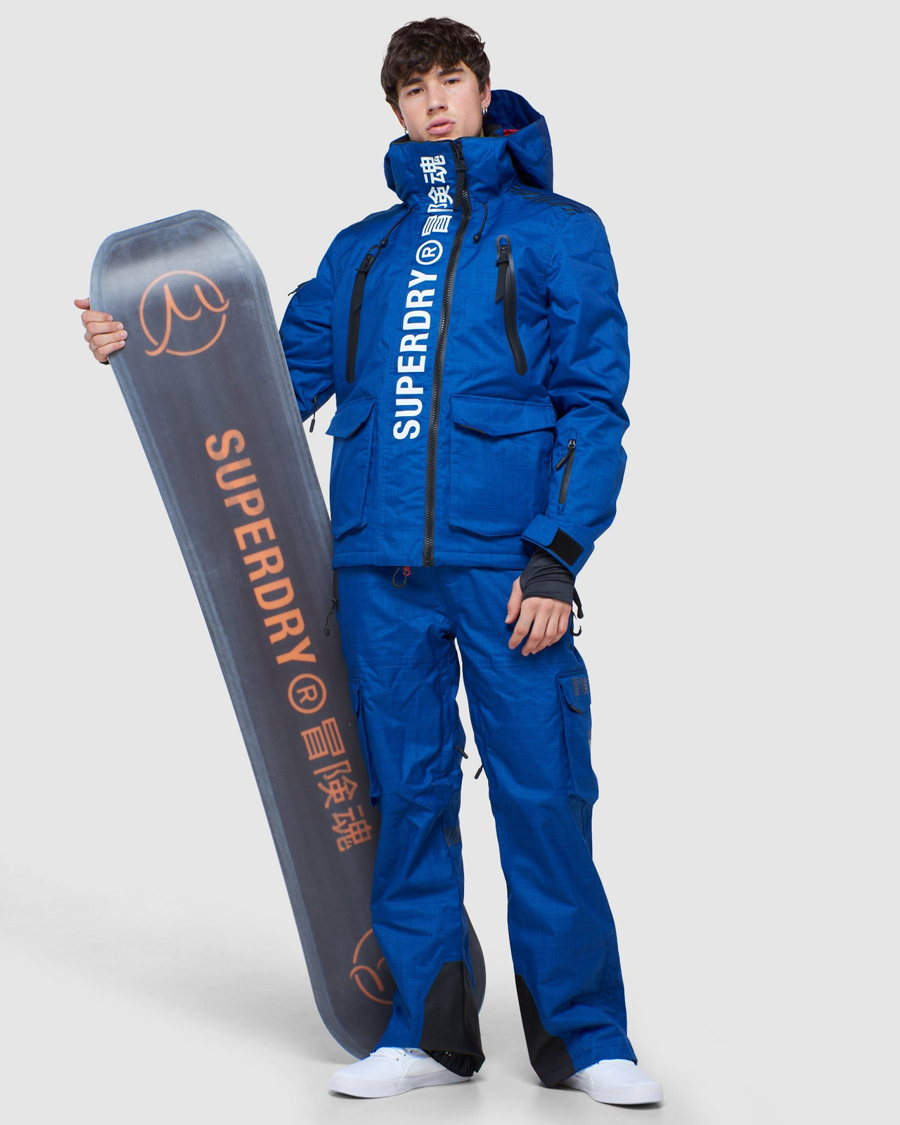 Superdry Mens ULTIMATE MOUNTAIN RESCUE JKT Blue Green Snow Jackets 1