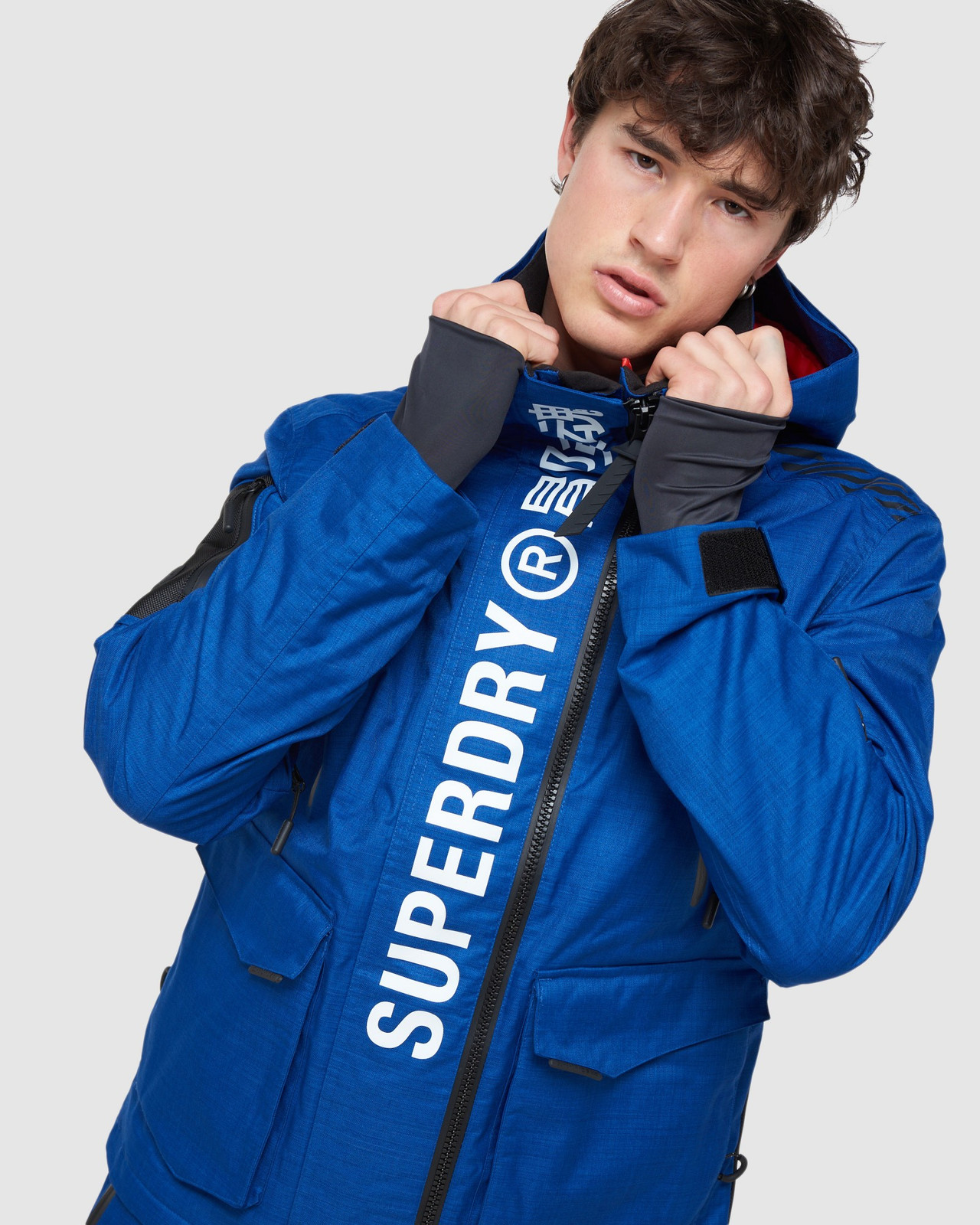 Superdry Mens ULTIMATE MOUNTAIN RESCUE JKT Blue Green Snow Jackets 5