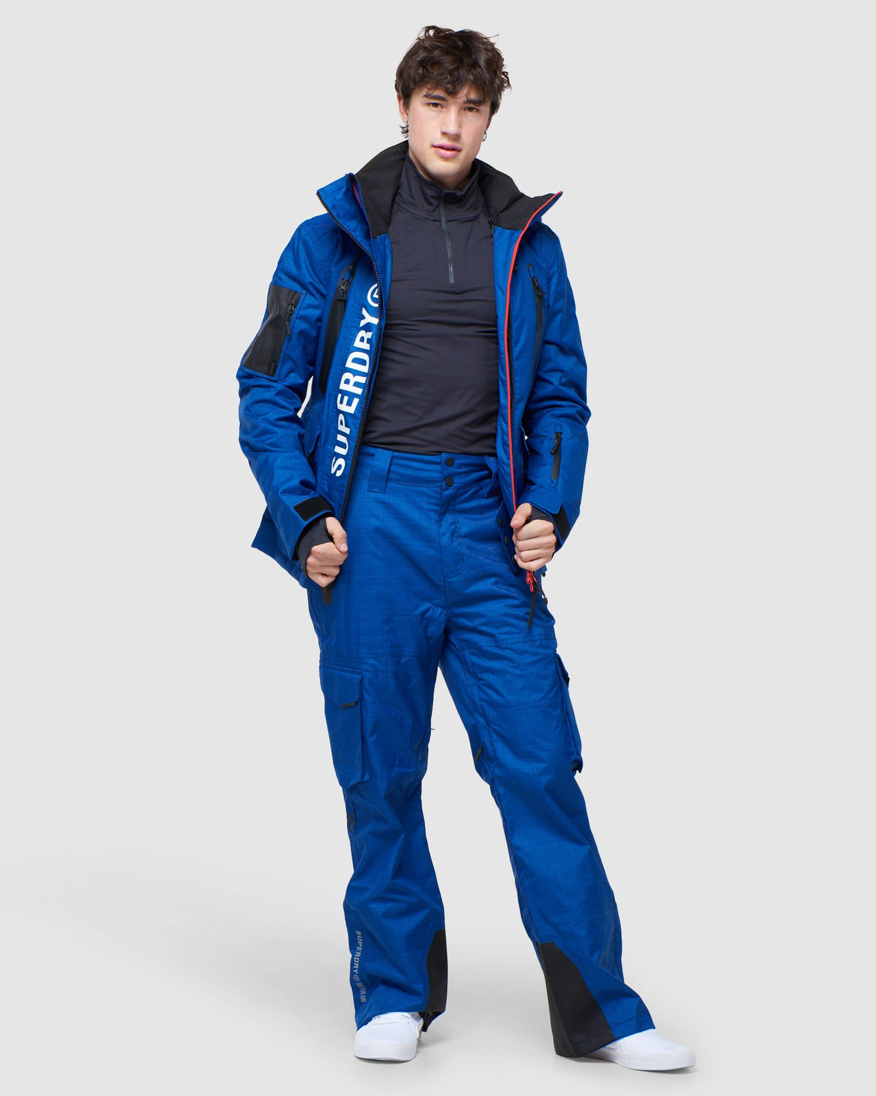 Superdry Mens ULTIMATE MOUNTAIN RESCUE JKT Blue Green Snow Jackets 8