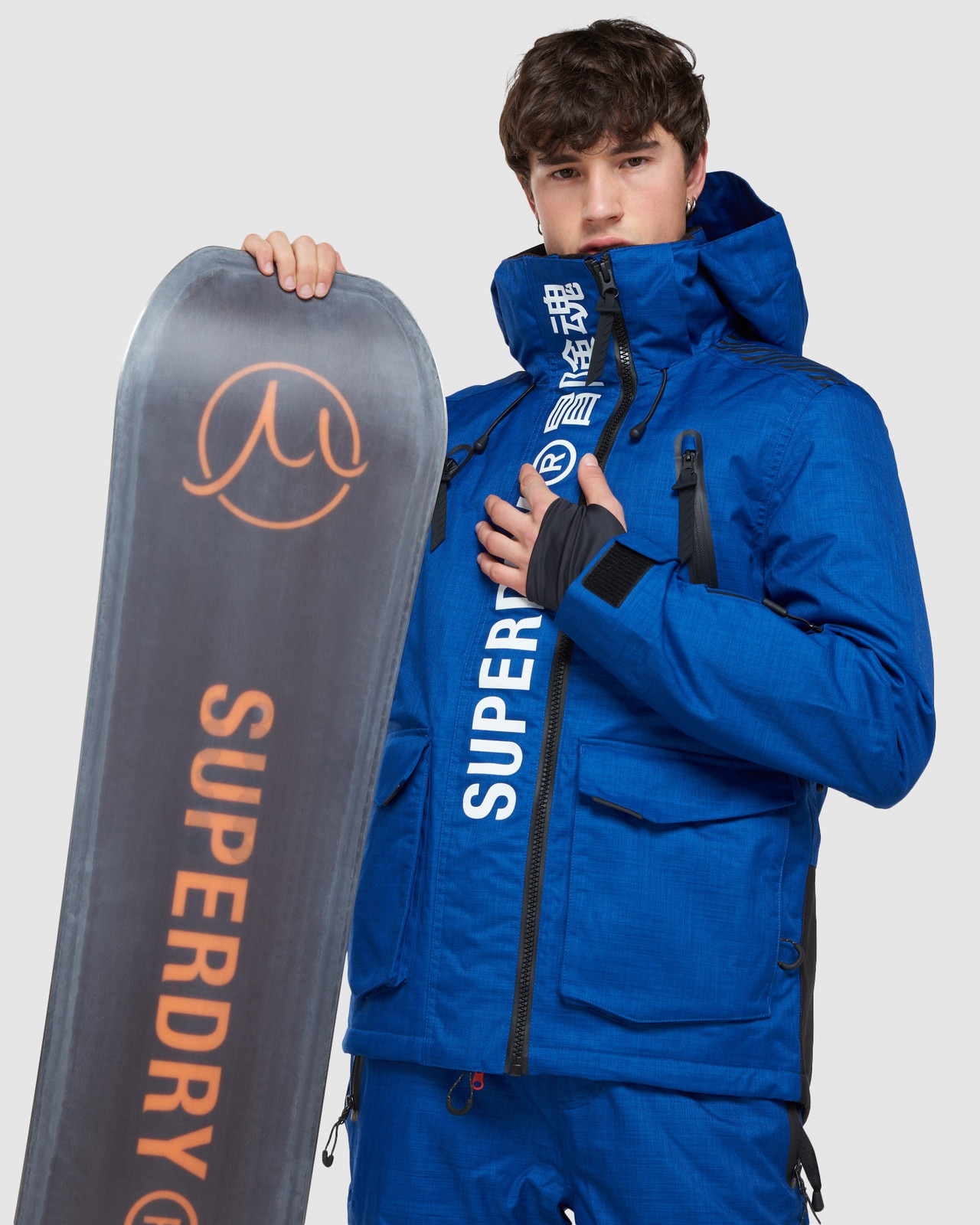 Superdry Mens ULTIMATE MOUNTAIN RESCUE JKT Blue Green Snow Jackets 9