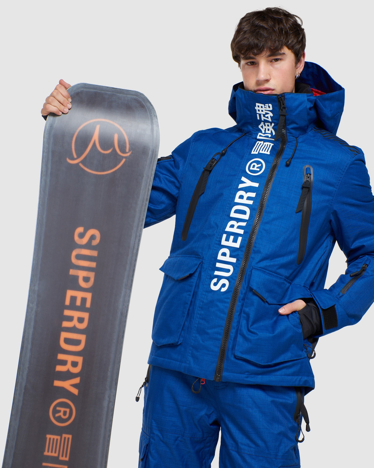 Superdry Mens ULTIMATE MOUNTAIN RESCUE JKT Blue Green Snow Jackets 10