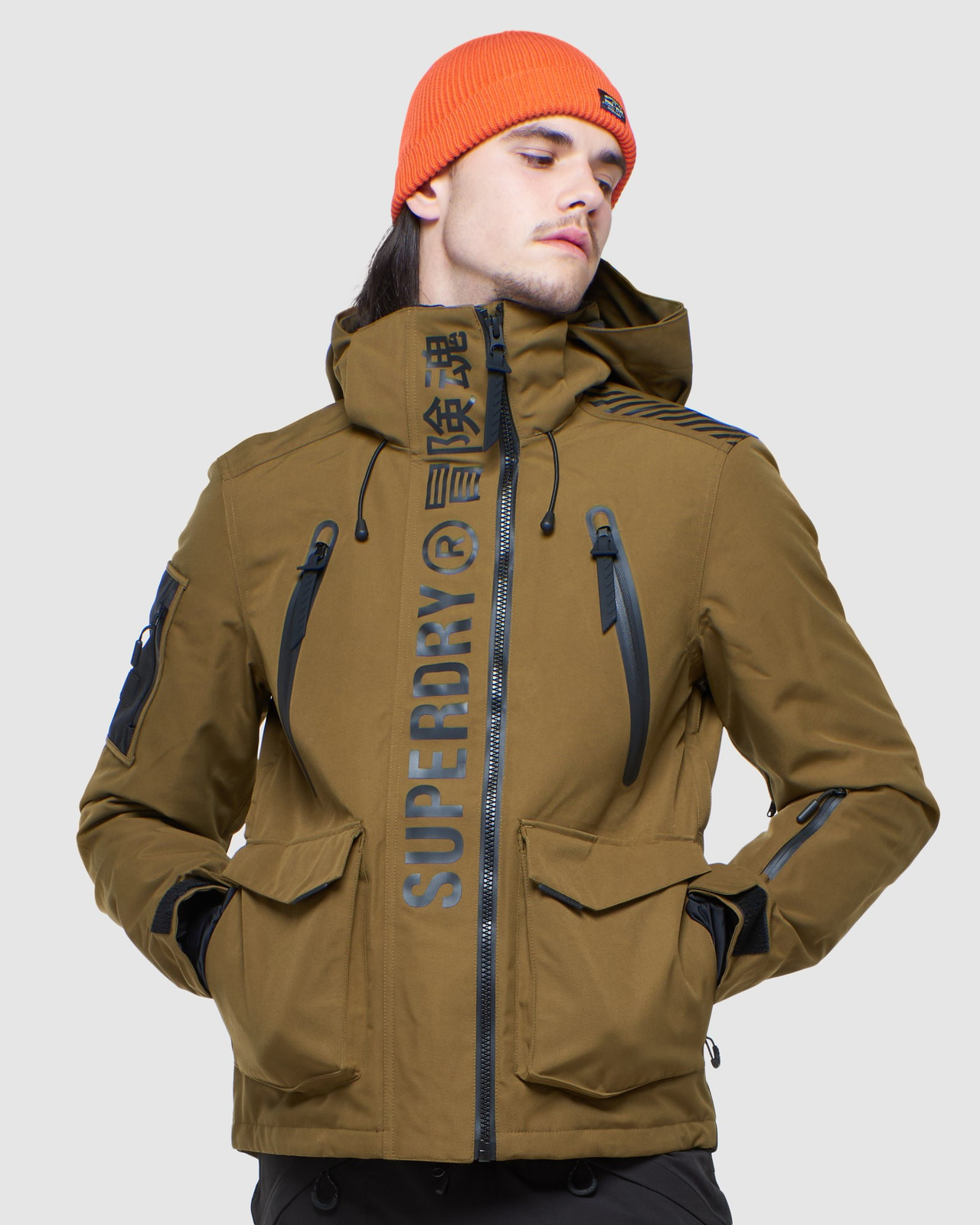 Superdry Mens ULTIMATE MOUNTAIN RESCUE JKT Blue Snow Jackets 0