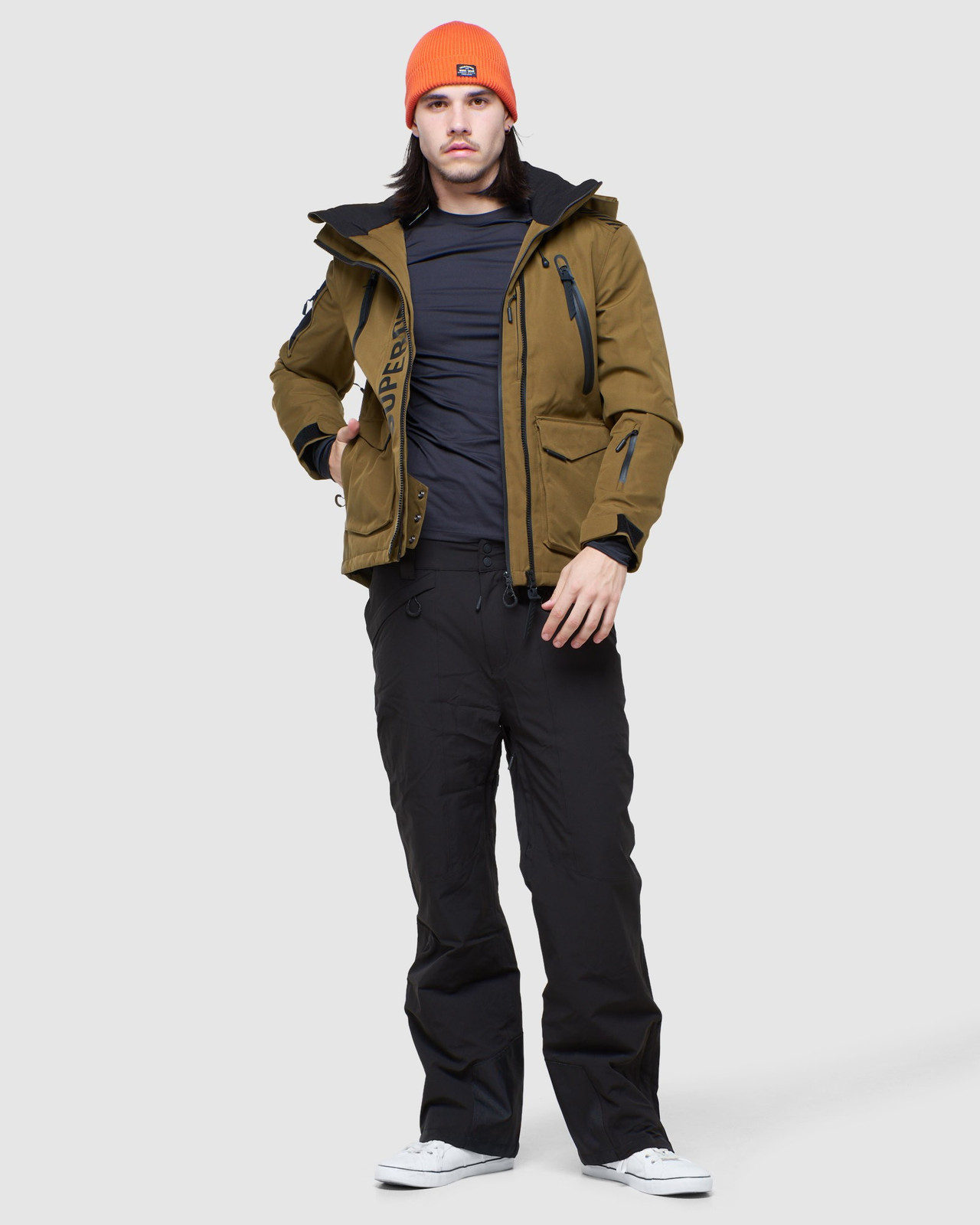 Superdry Mens ULTIMATE MOUNTAIN RESCUE JKT Blue Snow Jackets 1