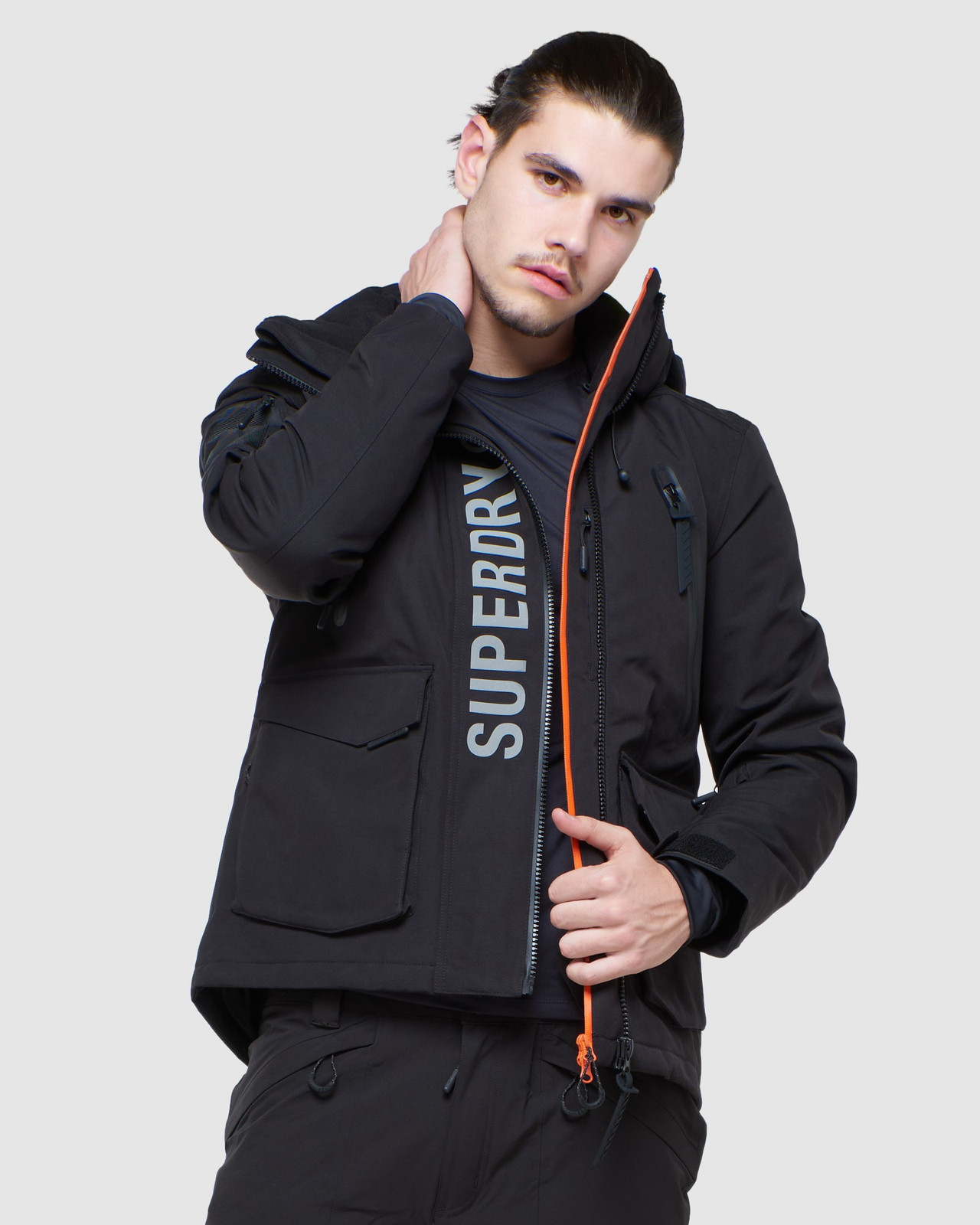 Superdry Mens ULTIMATE MOUNTAIN RESCUE JKT Black Snow Jackets 0