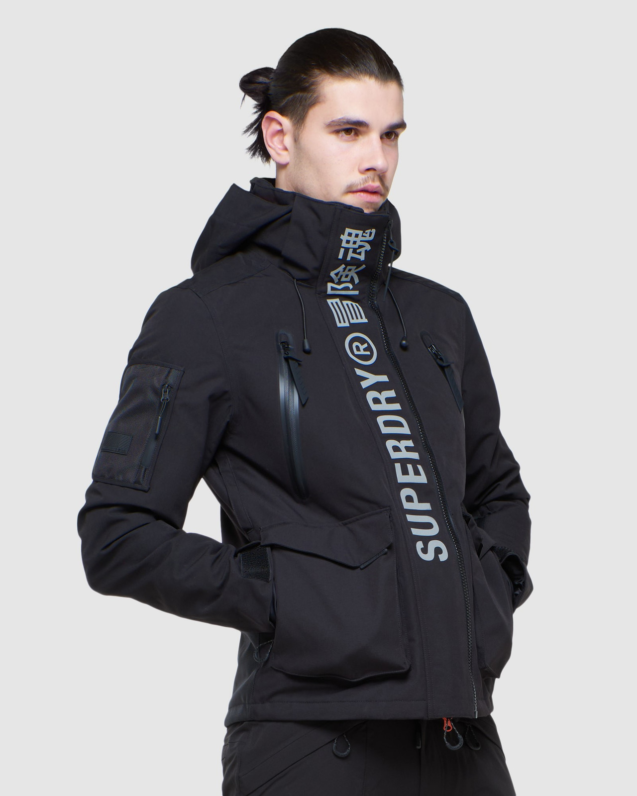 Superdry Mens ULTIMATE MOUNTAIN RESCUE JKT Black Snow Jackets 2