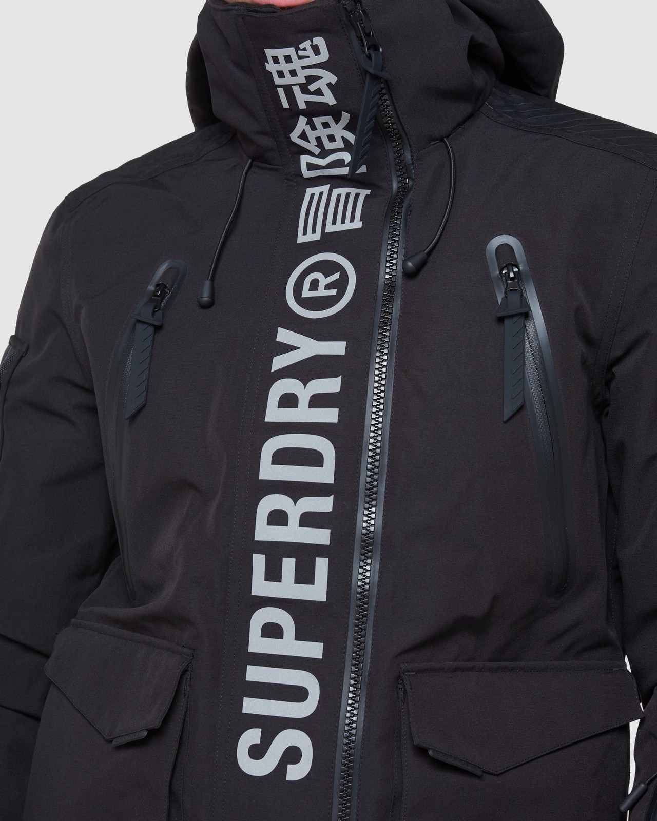 Superdry Mens ULTIMATE MOUNTAIN RESCUE JKT Black Snow Jackets 7